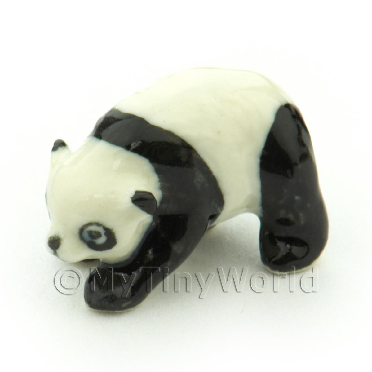 Dolls House Miniature Ceramic Standing Panda