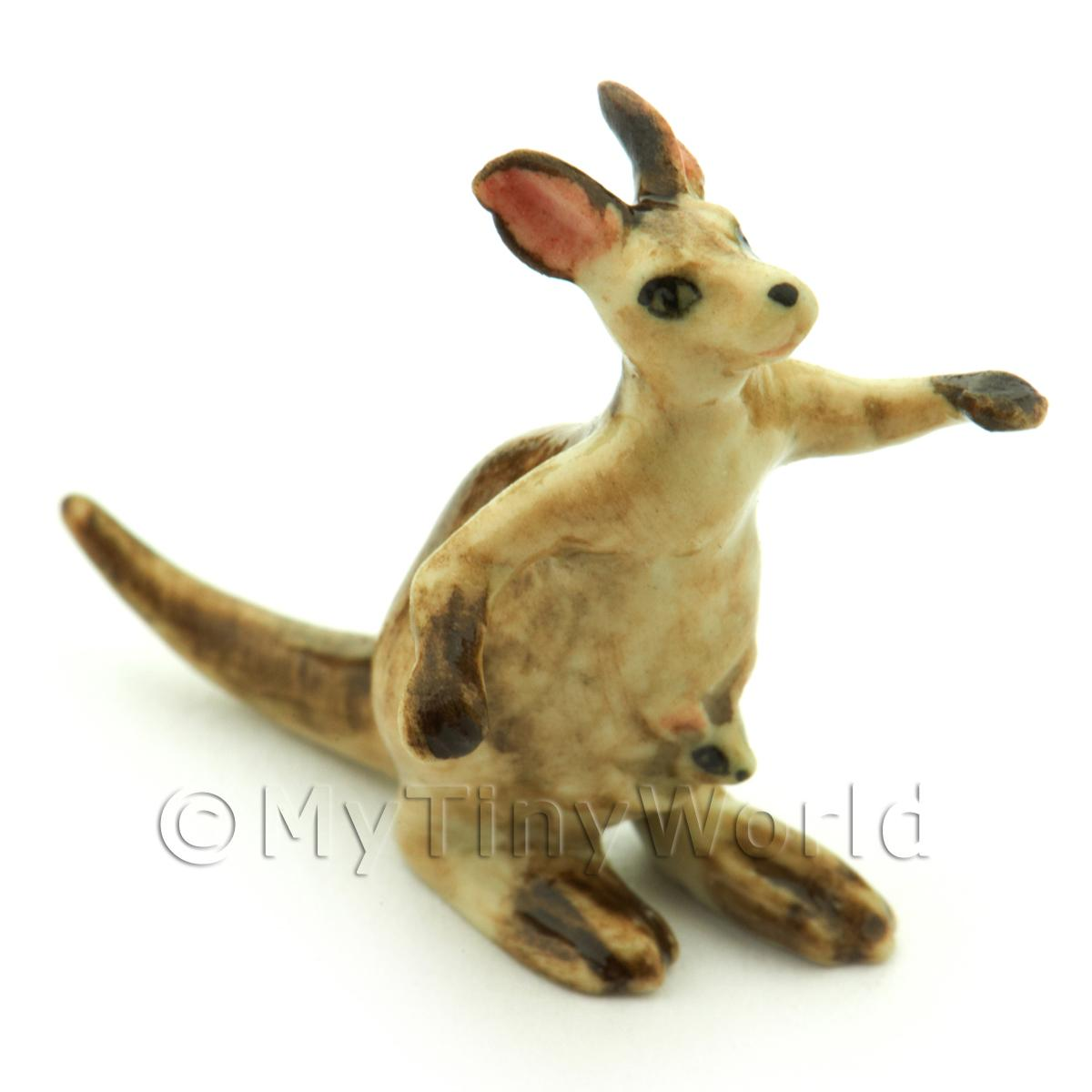 Handmade Dolls House Miniature Ceramic Kangaroo