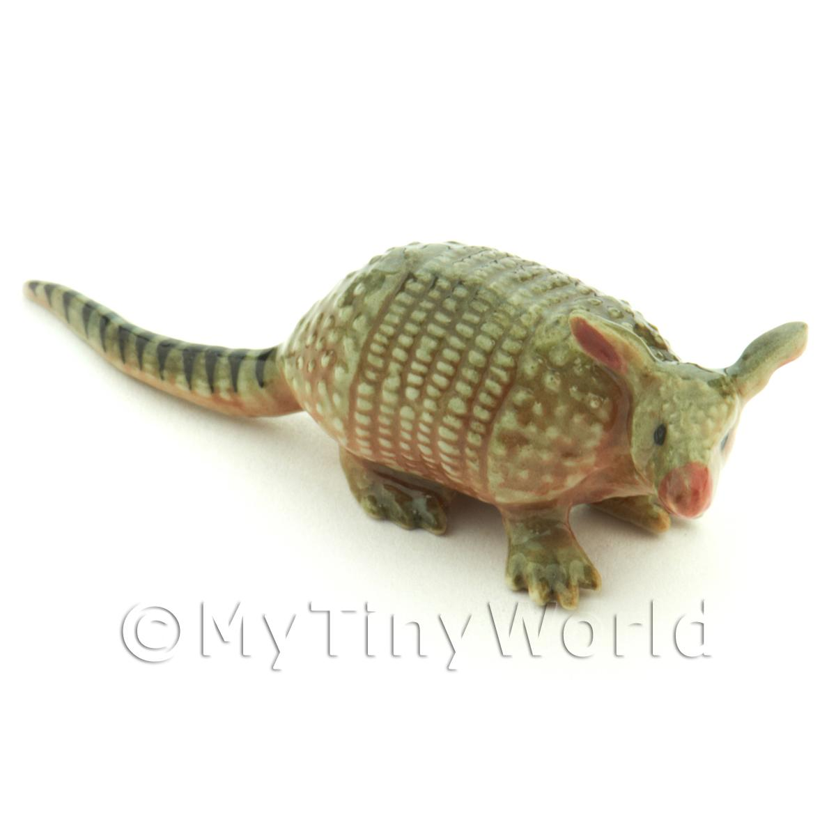 Handmade Dolls House Miniature Ceramic Armadillo