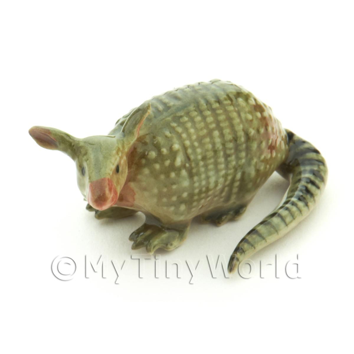 Dolls House Miniature Ceramic Armadillo Style 2