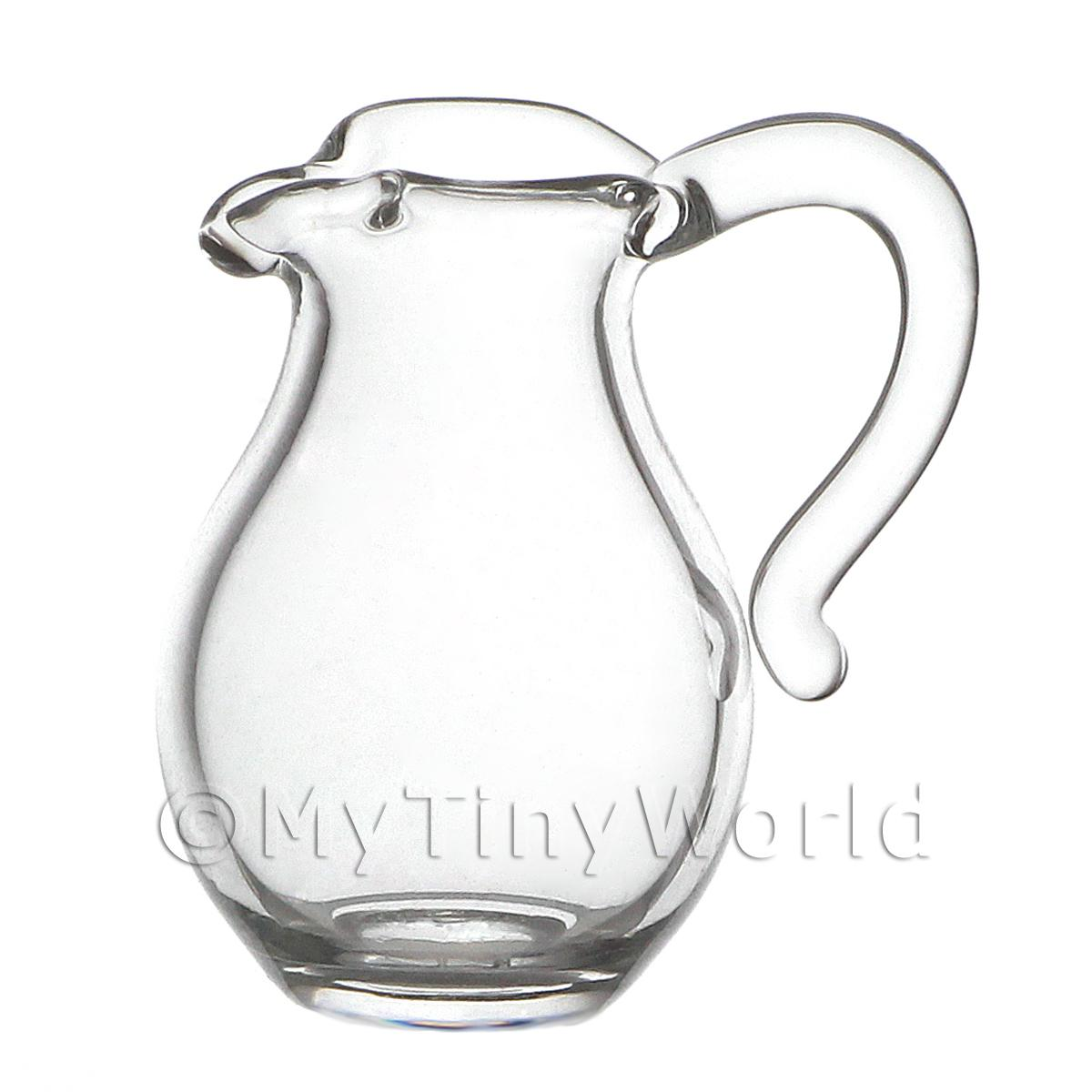 17mm Dolls House Miniature Glass Water Jug