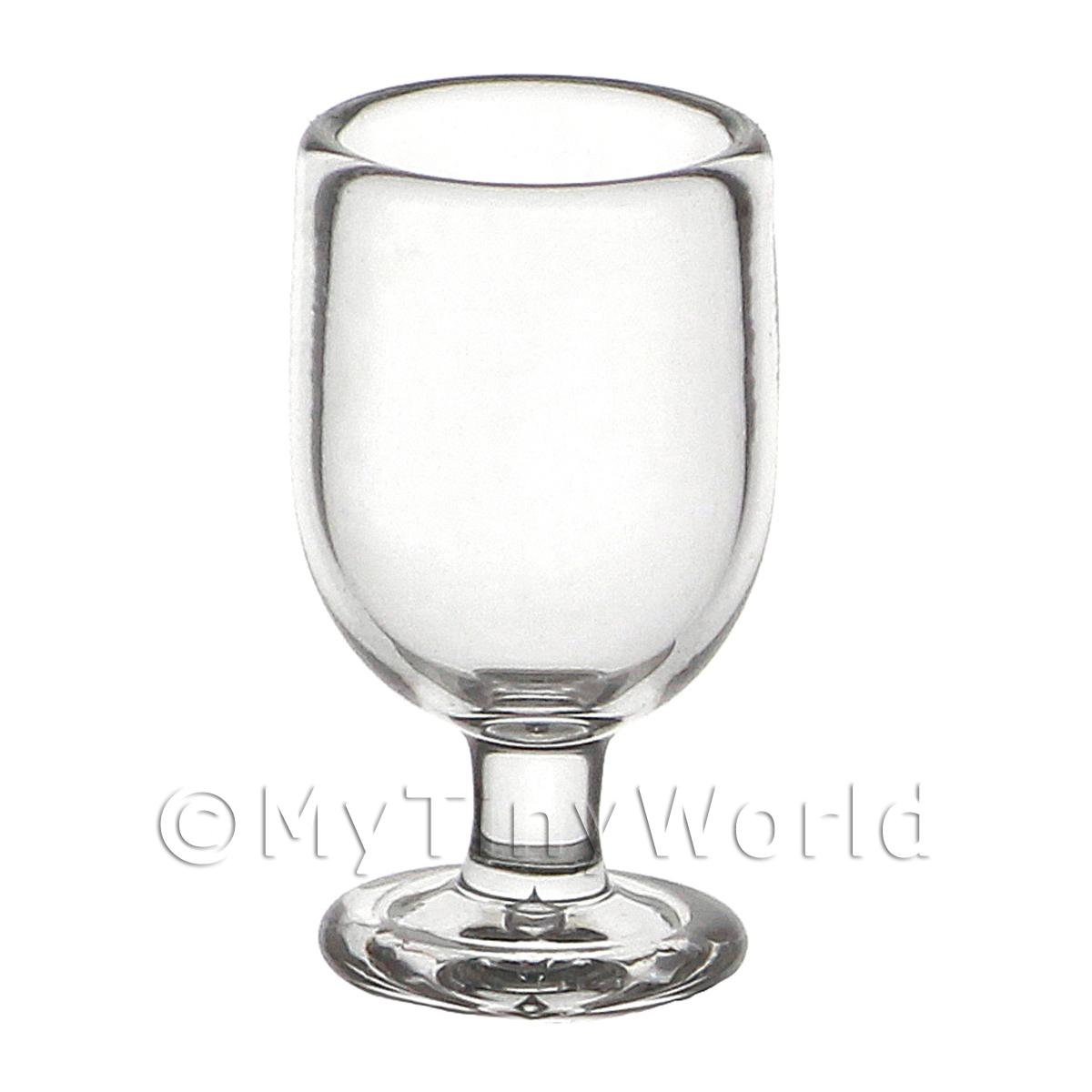 Dolls House Miniature Glassware Dolls House Miniature Handmade Clear Short Stemmed Wine Glass