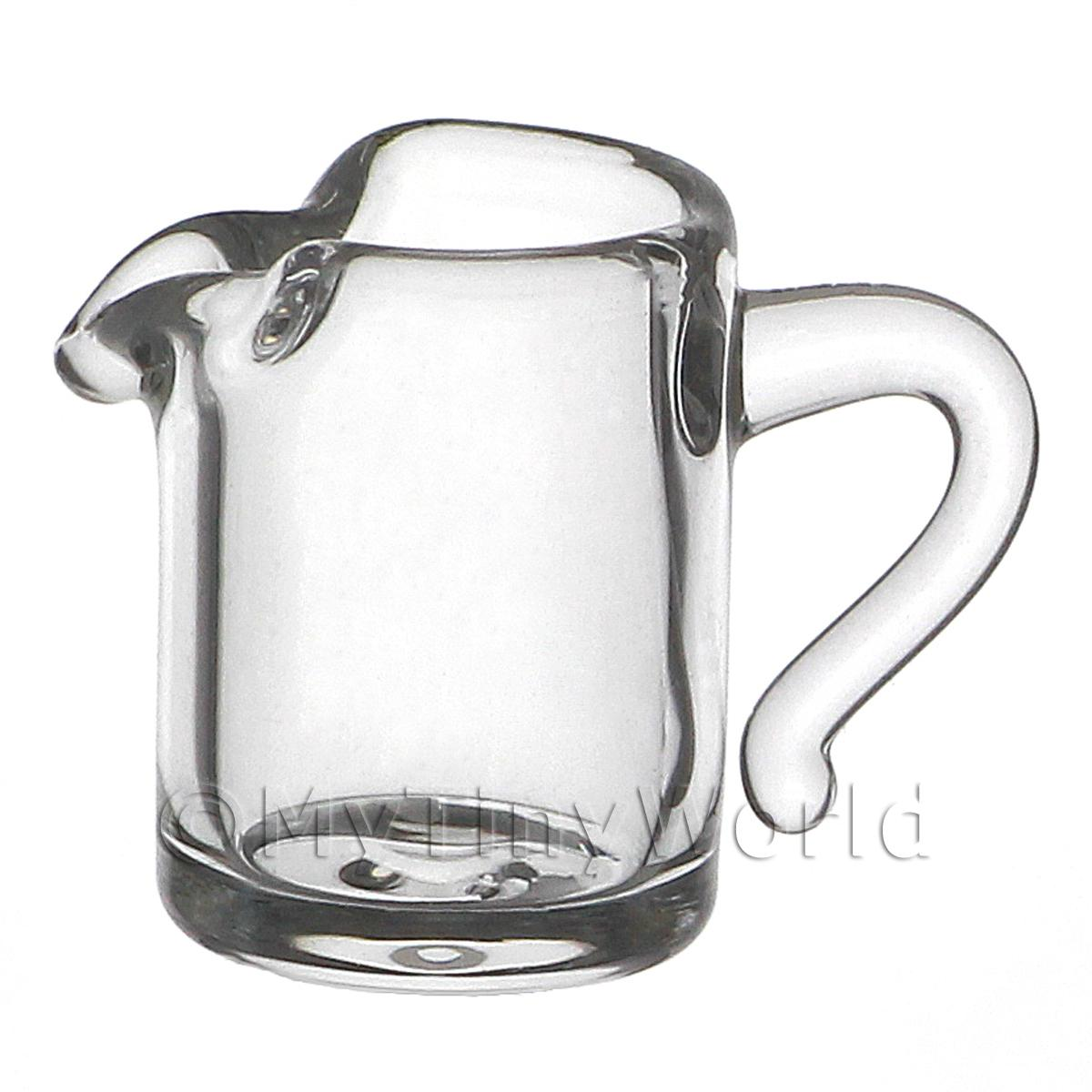 12mm Dolls House Miniature Straight Sided Glass Pitcher