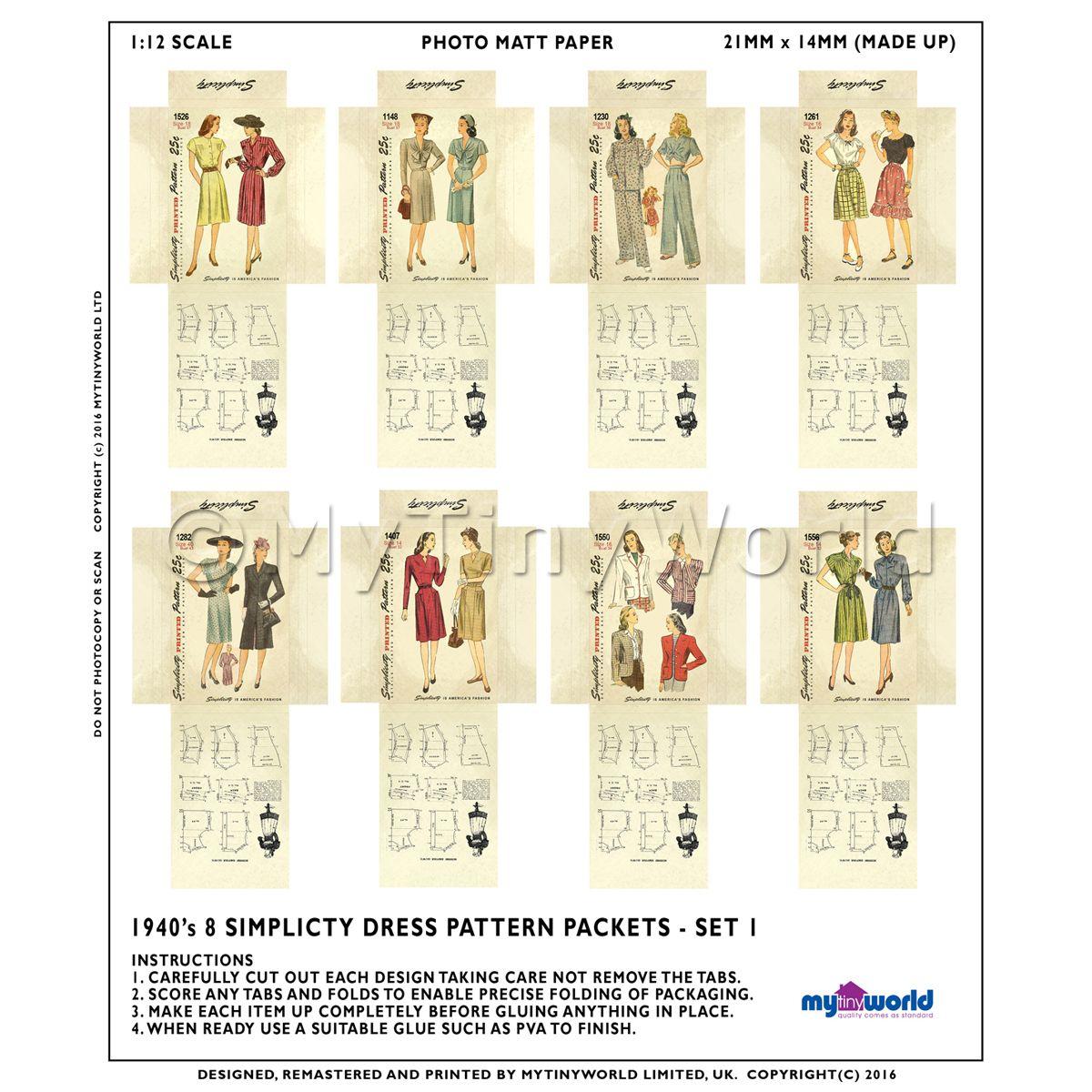 Dress Patterns Dolls House Miniature Mytinyworld