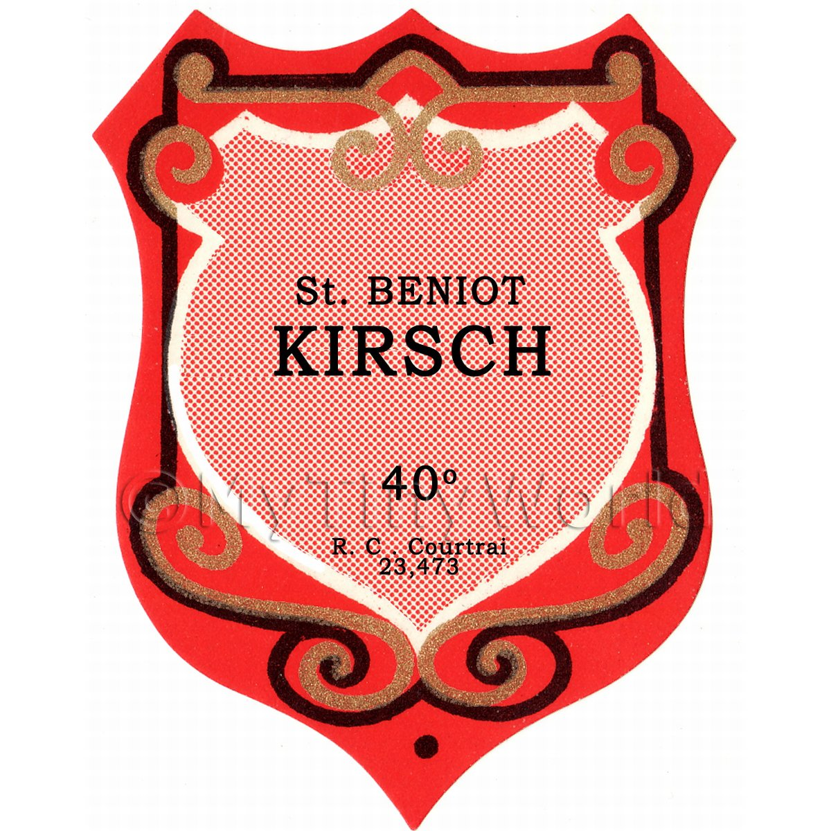 Benoit Kirsch Miniature Dolls House Liqueur Label
