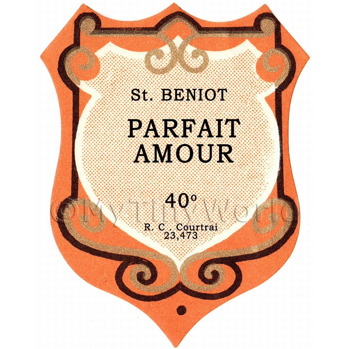Benoit Parfait Amour Miniature Dolls House Liqueur Label