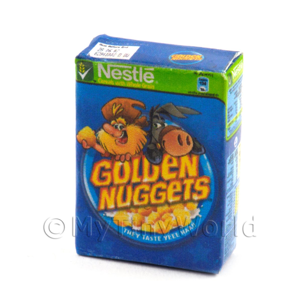 Dolls House Miniature Box of Nestle Golden Nuggets