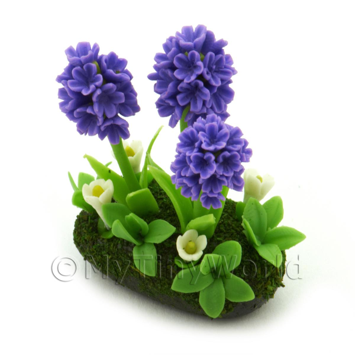 Dolls House Miniature Flower Bed Hyacinth