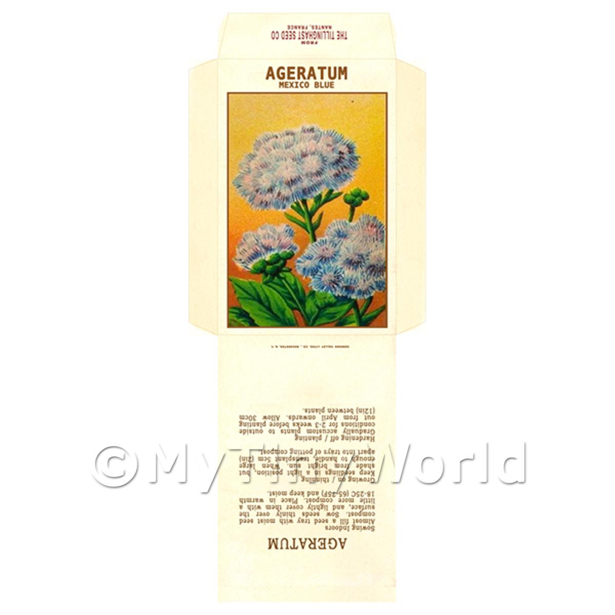 Ageratum Dolls House Miniature Seed Packet