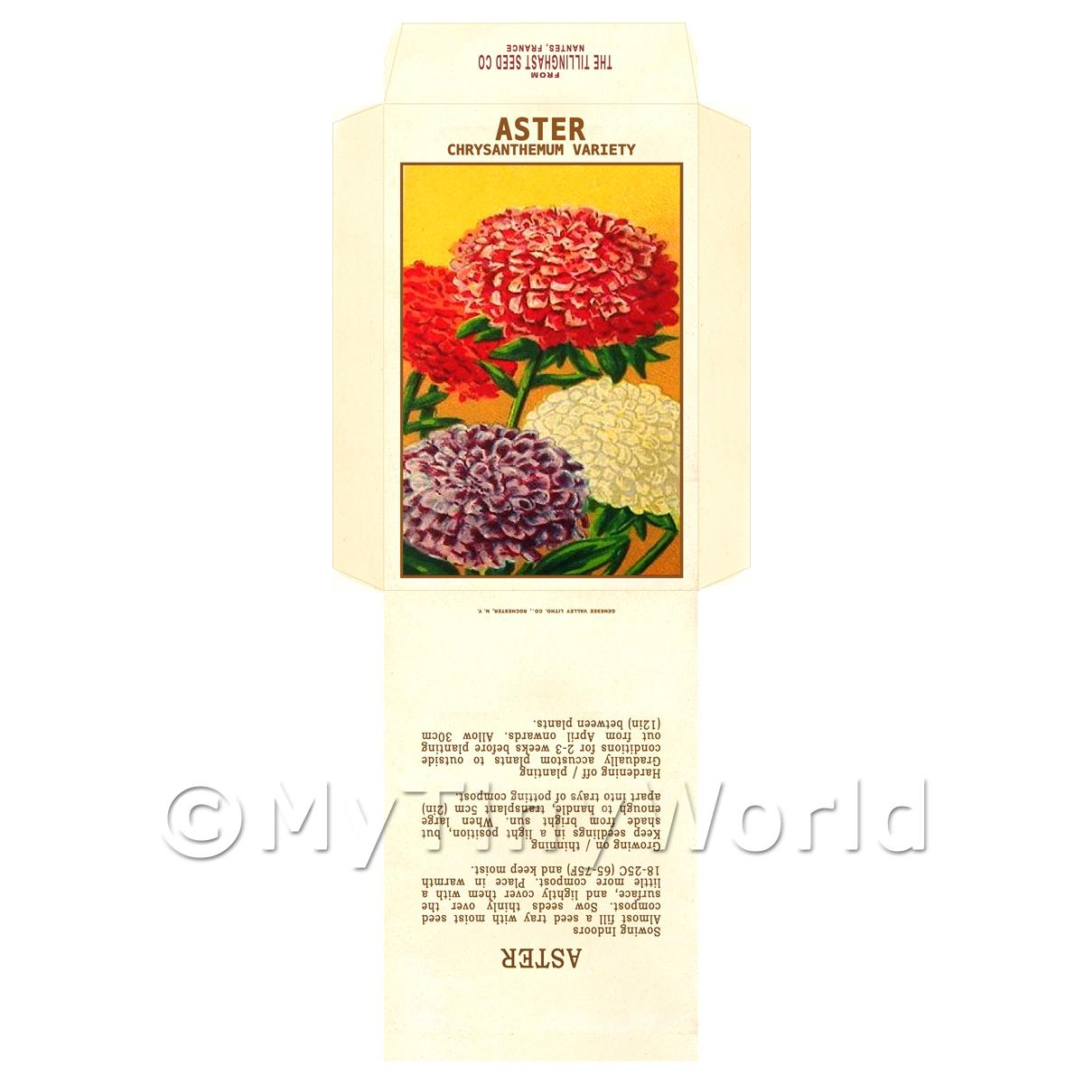 Aster Dolls House Miniature Seed Packet