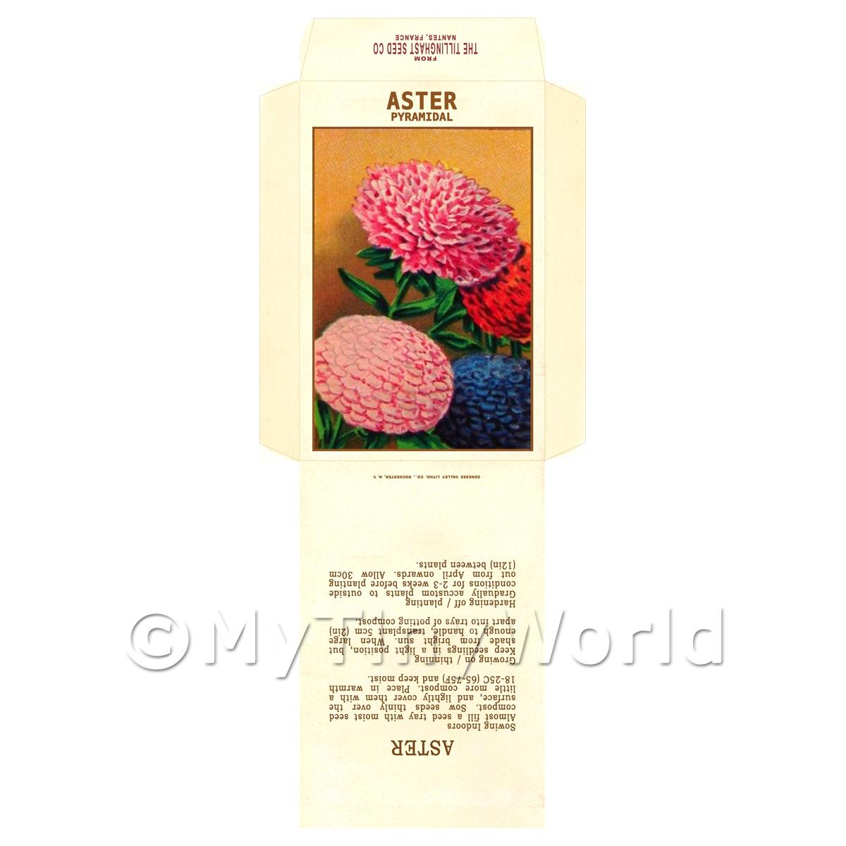 Pyramidal Aster Dolls House Miniature Seed Packet
