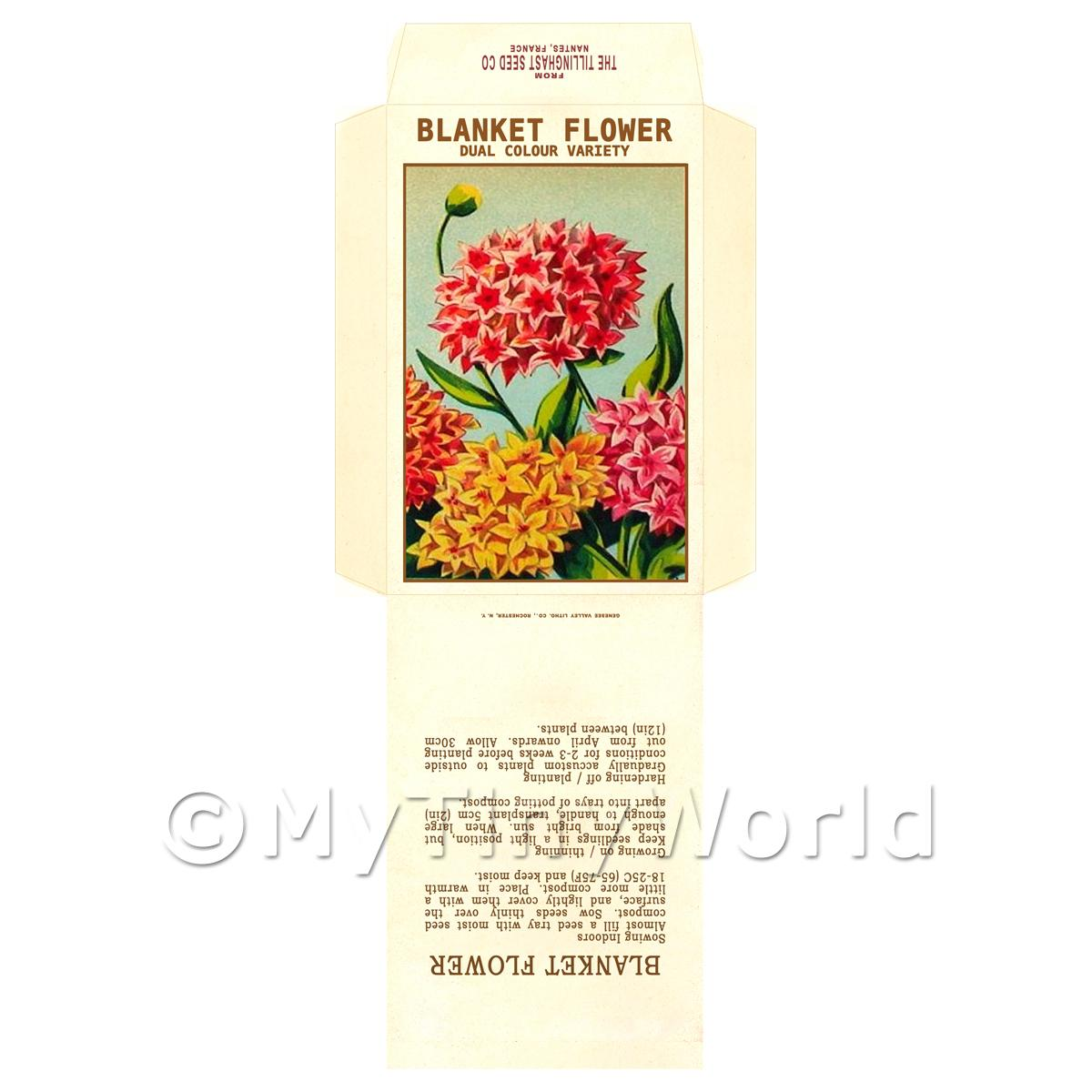 Blanket Flower Dolls House Miniature Seed Packet
