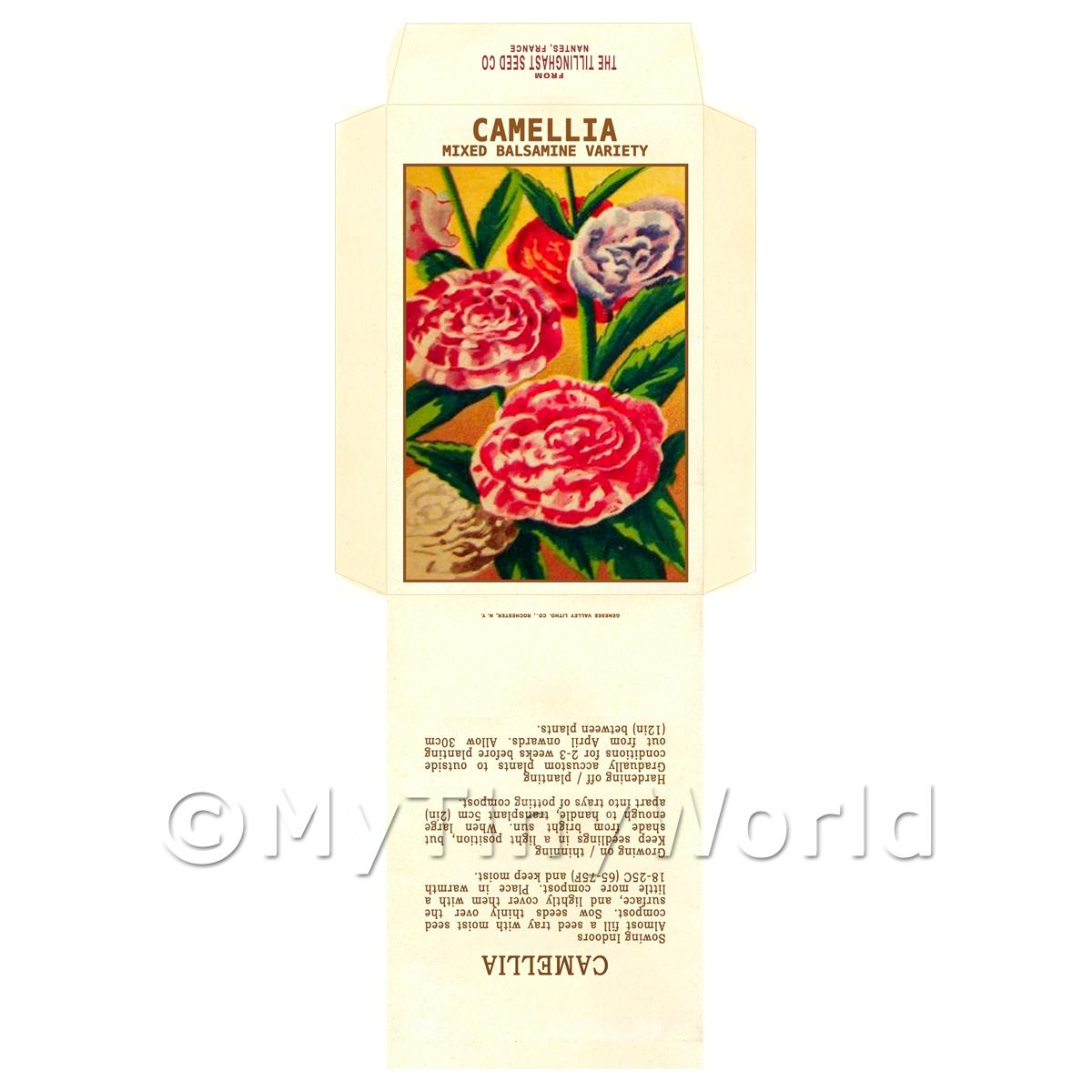 Mixed Camellia Dolls House Miniature Seed Packet