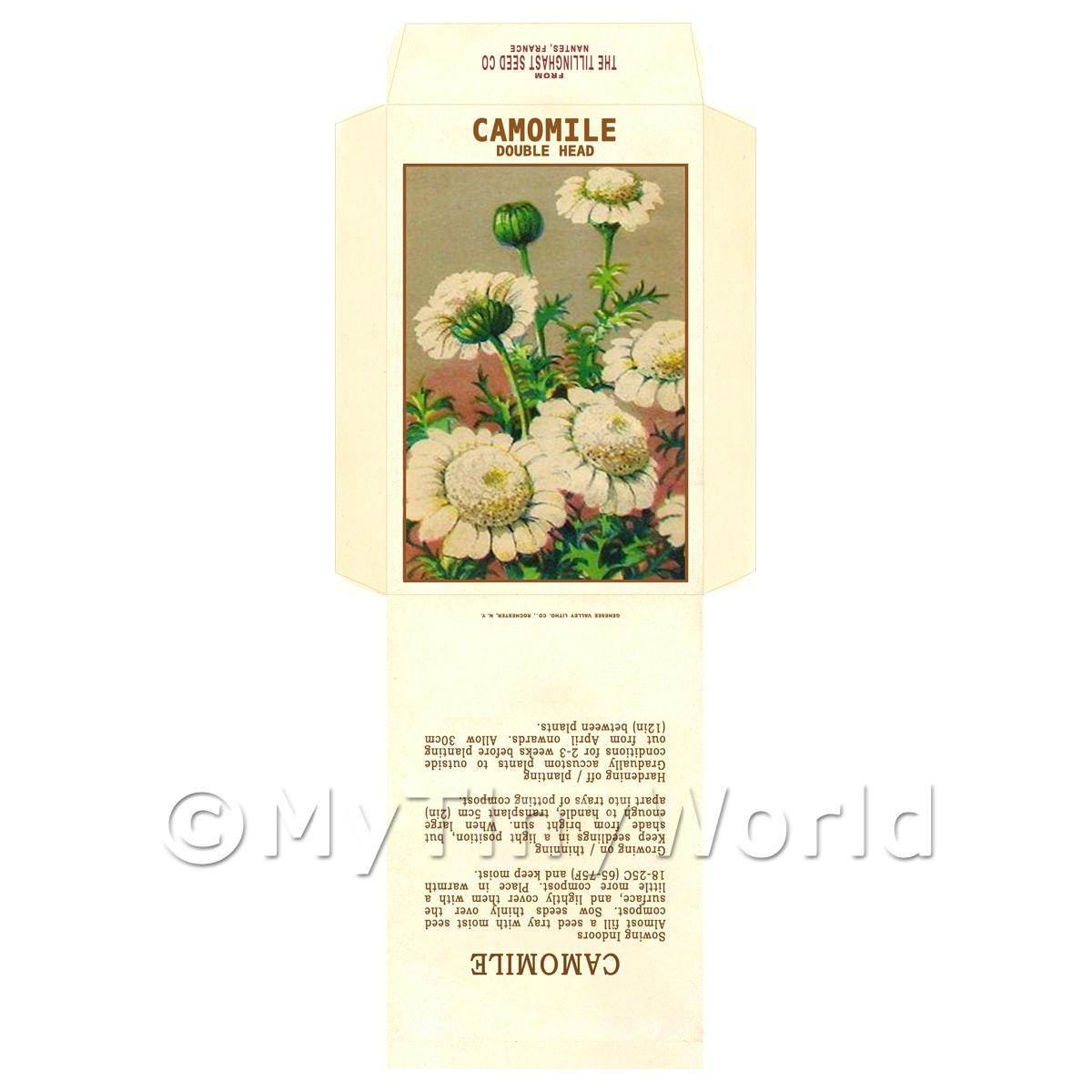 Camomile Dolls House Miniature Seed Packet