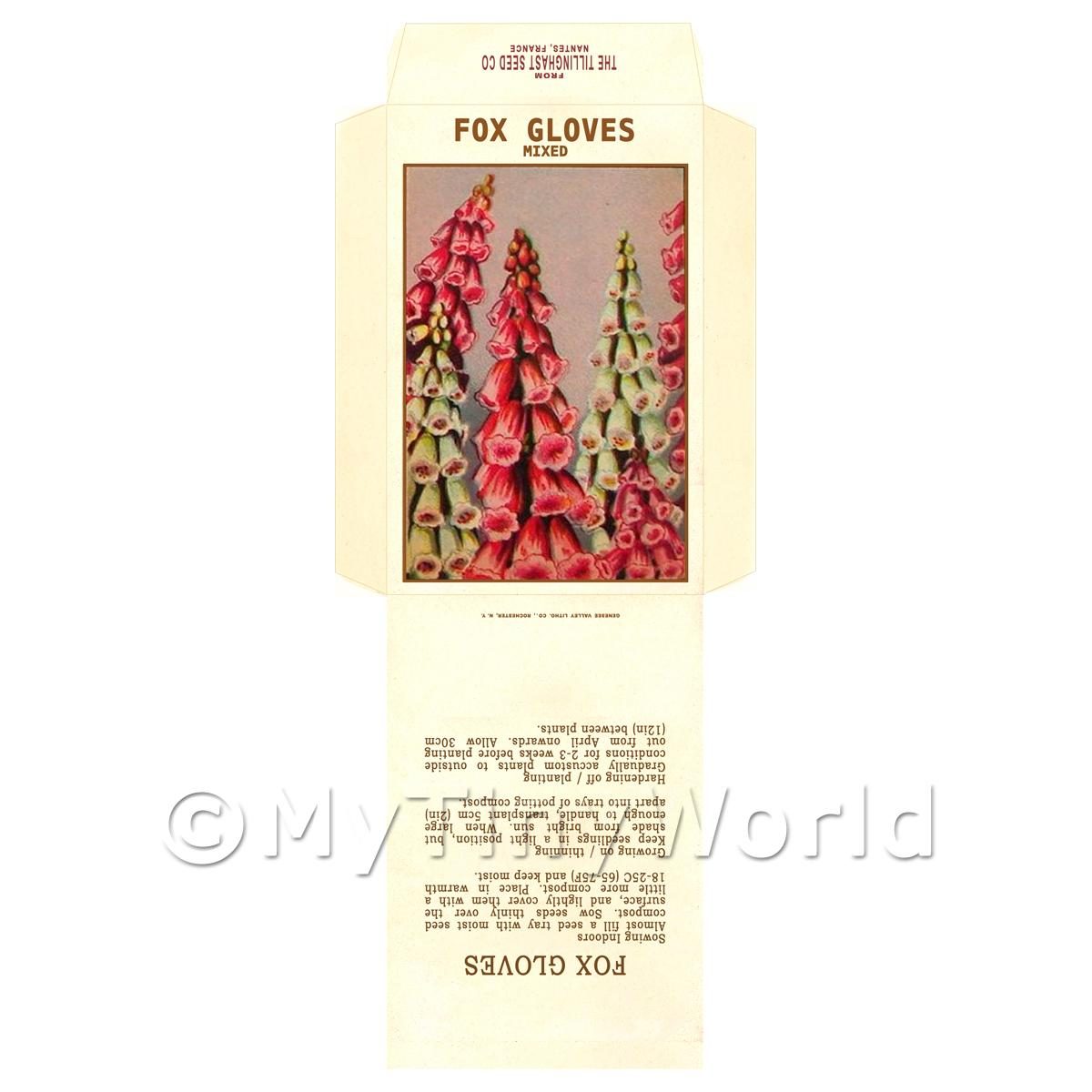Foxgloves Dolls House Miniature Seed Packet