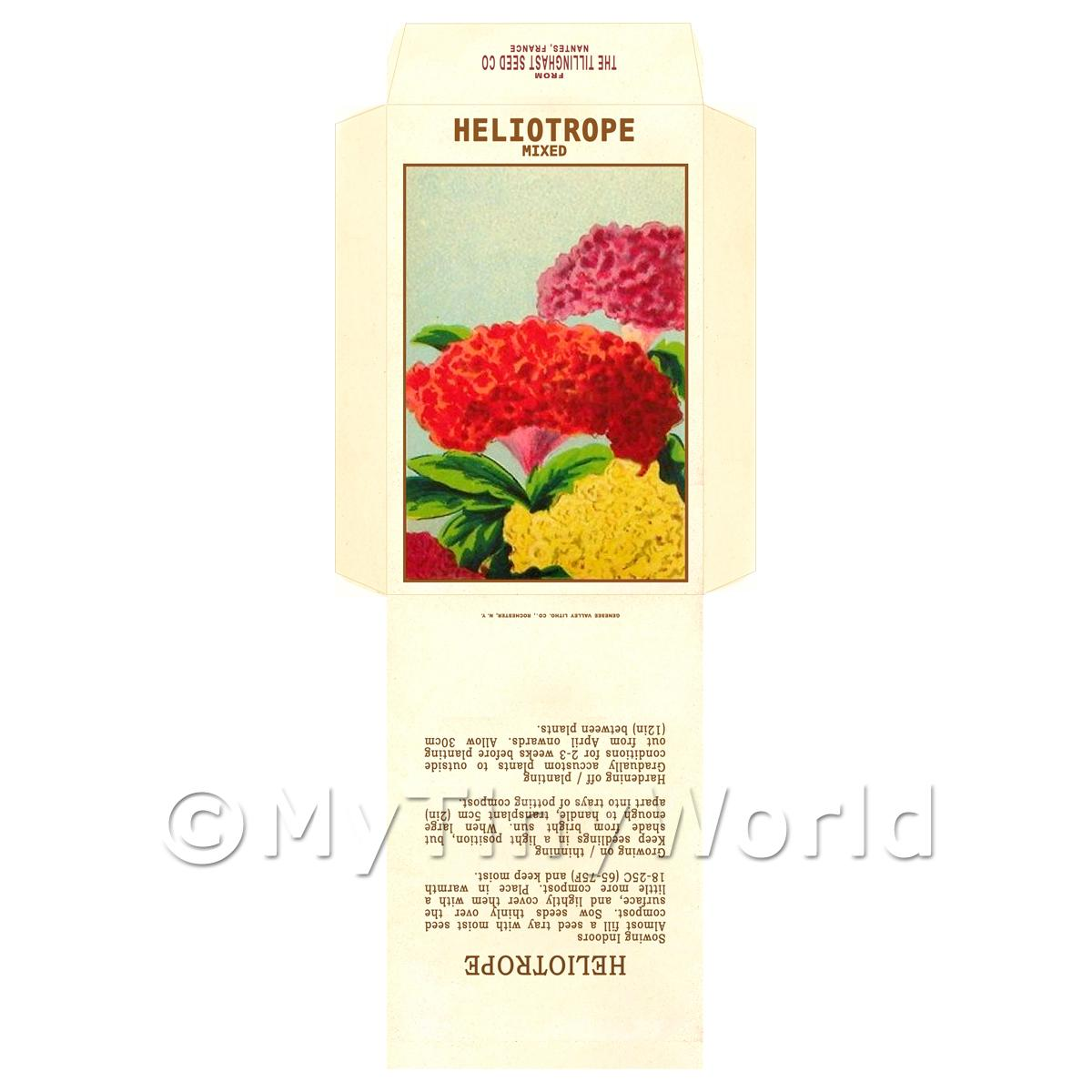 Mixed Helitrope Dolls House Miniature Seed Packet