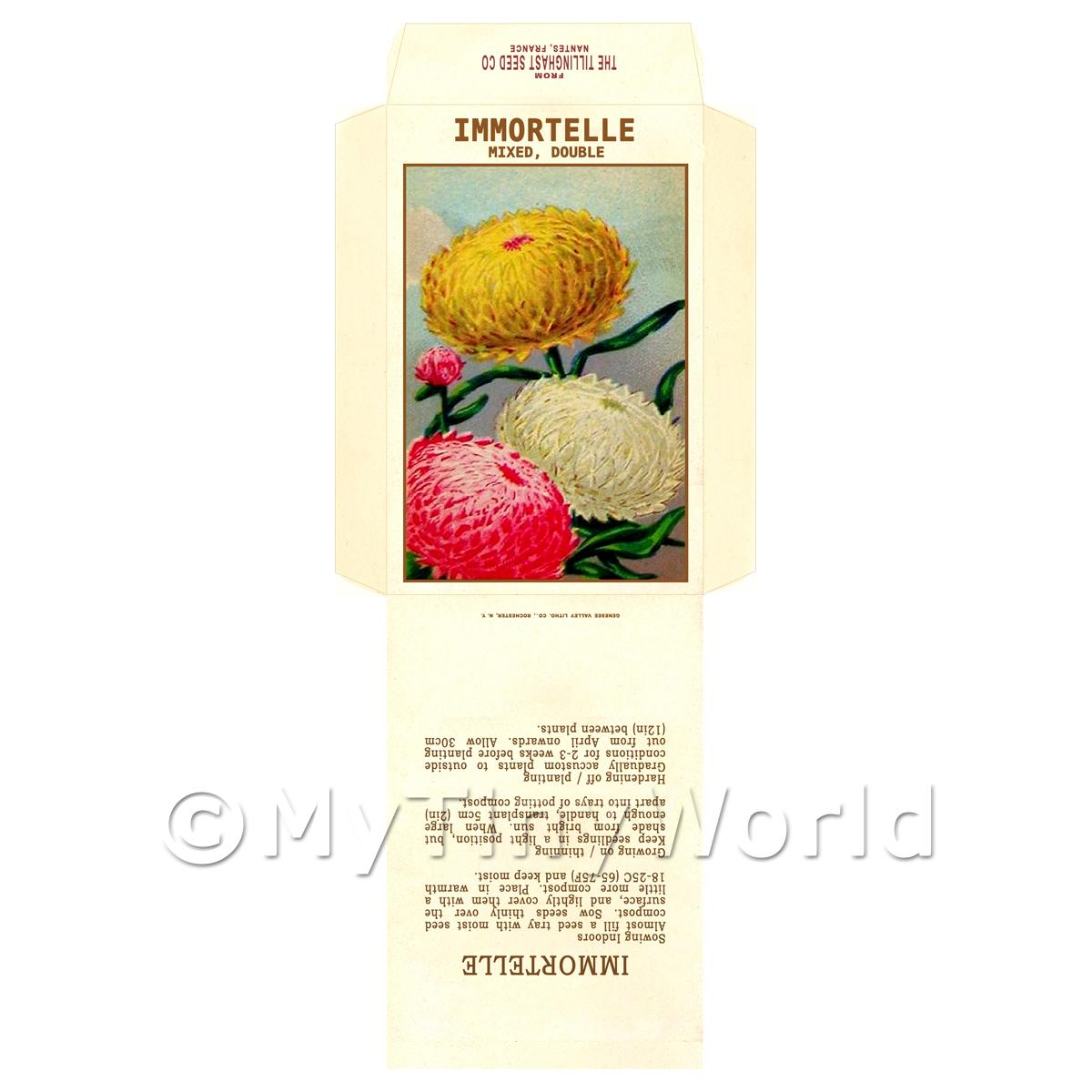 Immortelle Dolls House Miniature Seed Packet