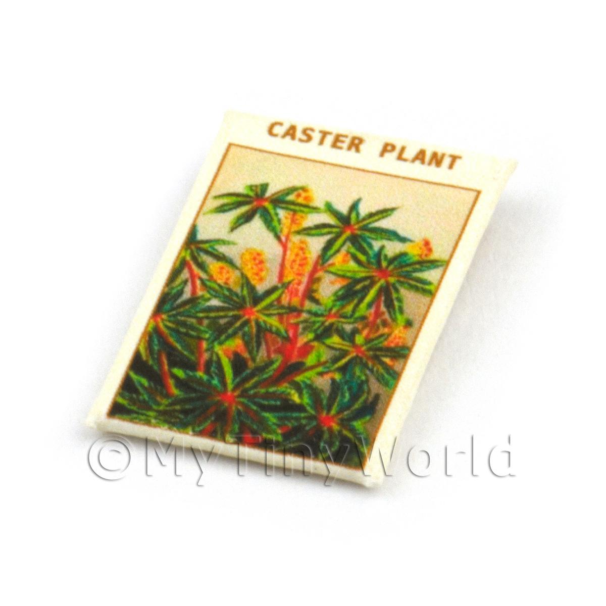 Dolls House Flower Seed Packet - Caster Plant