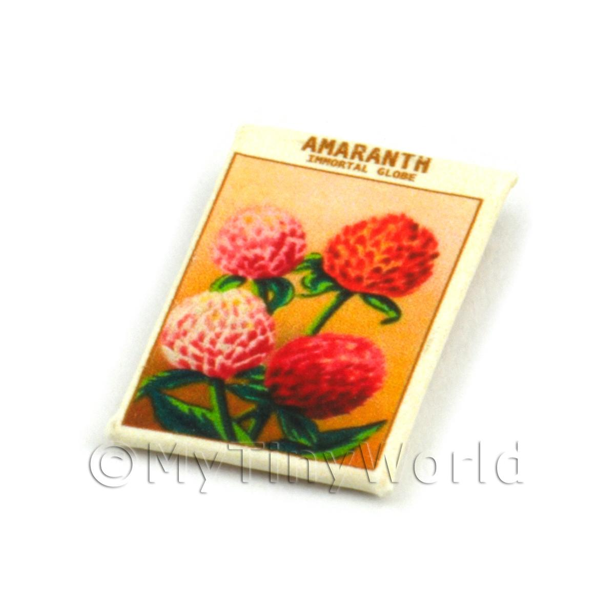 Dolls House Flower Seed Packet - Amaranth