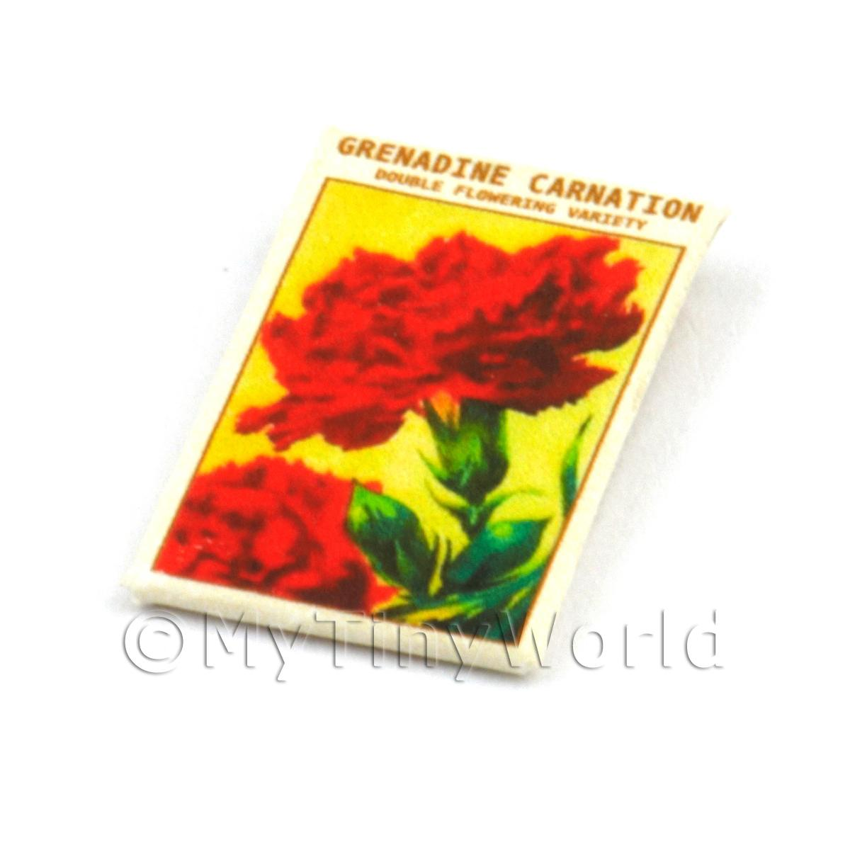 Dolls House Flower Seed Packet - Carnation