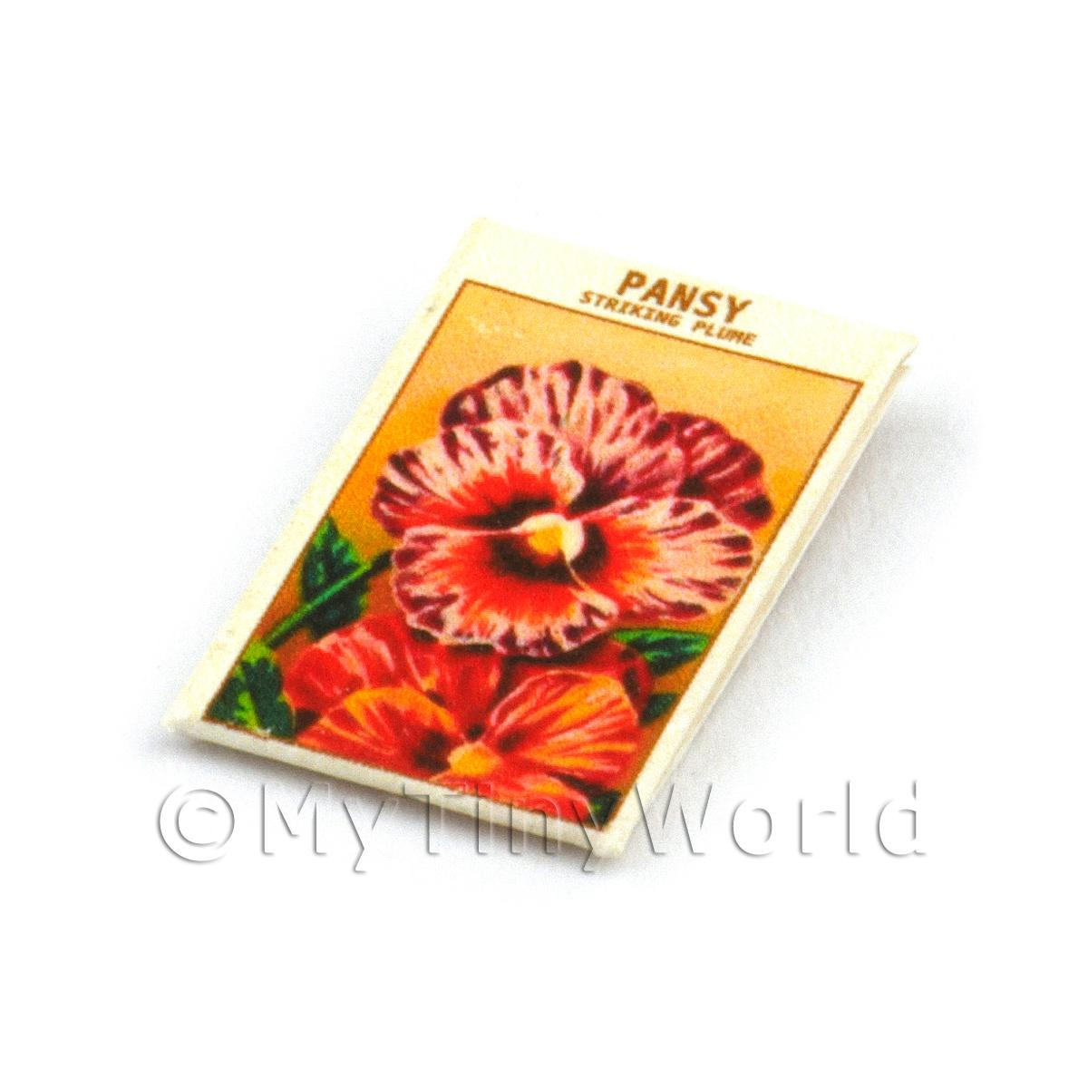 Dolls House Flower Seed Packet - Pansy