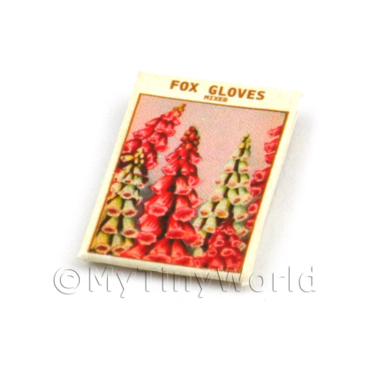 Dolls House Flower Seed Packet - Fox Gloves