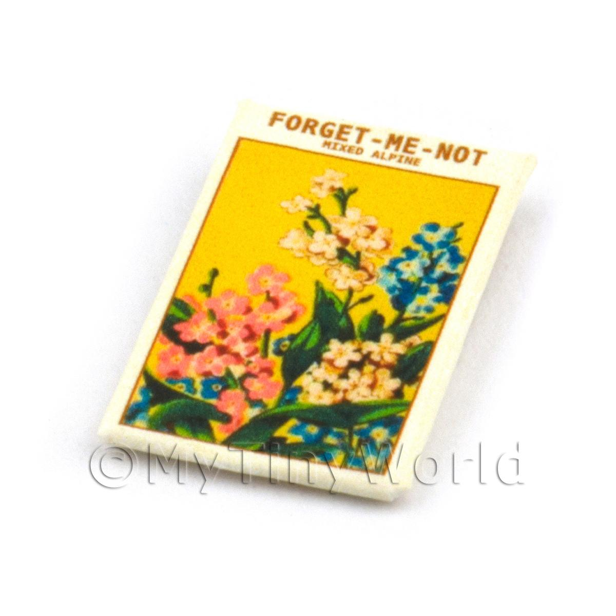 Dolls House Flower Seed Packet - Forget-Me-Not Alpine