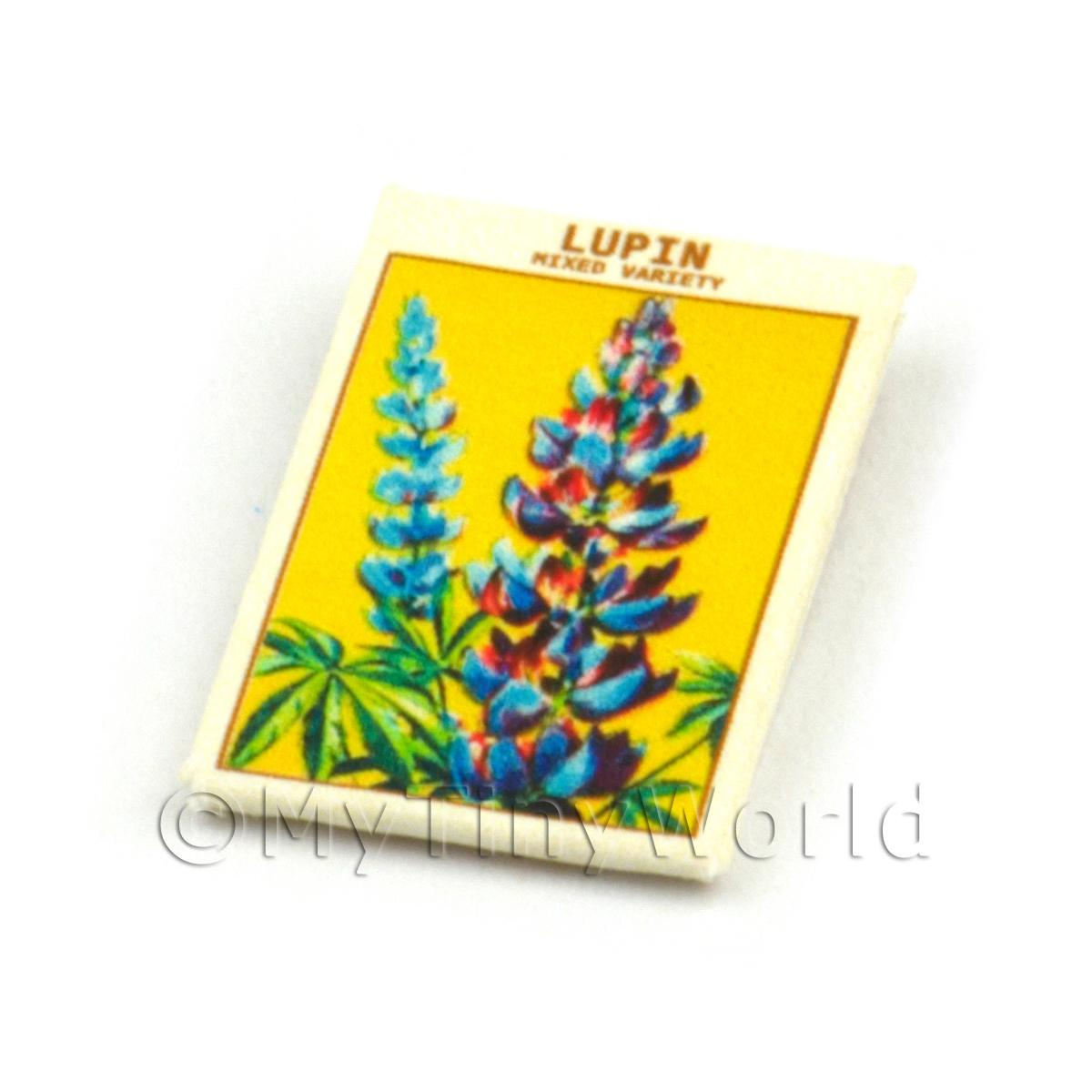 Dolls House Flower Seed Packet - Lupin