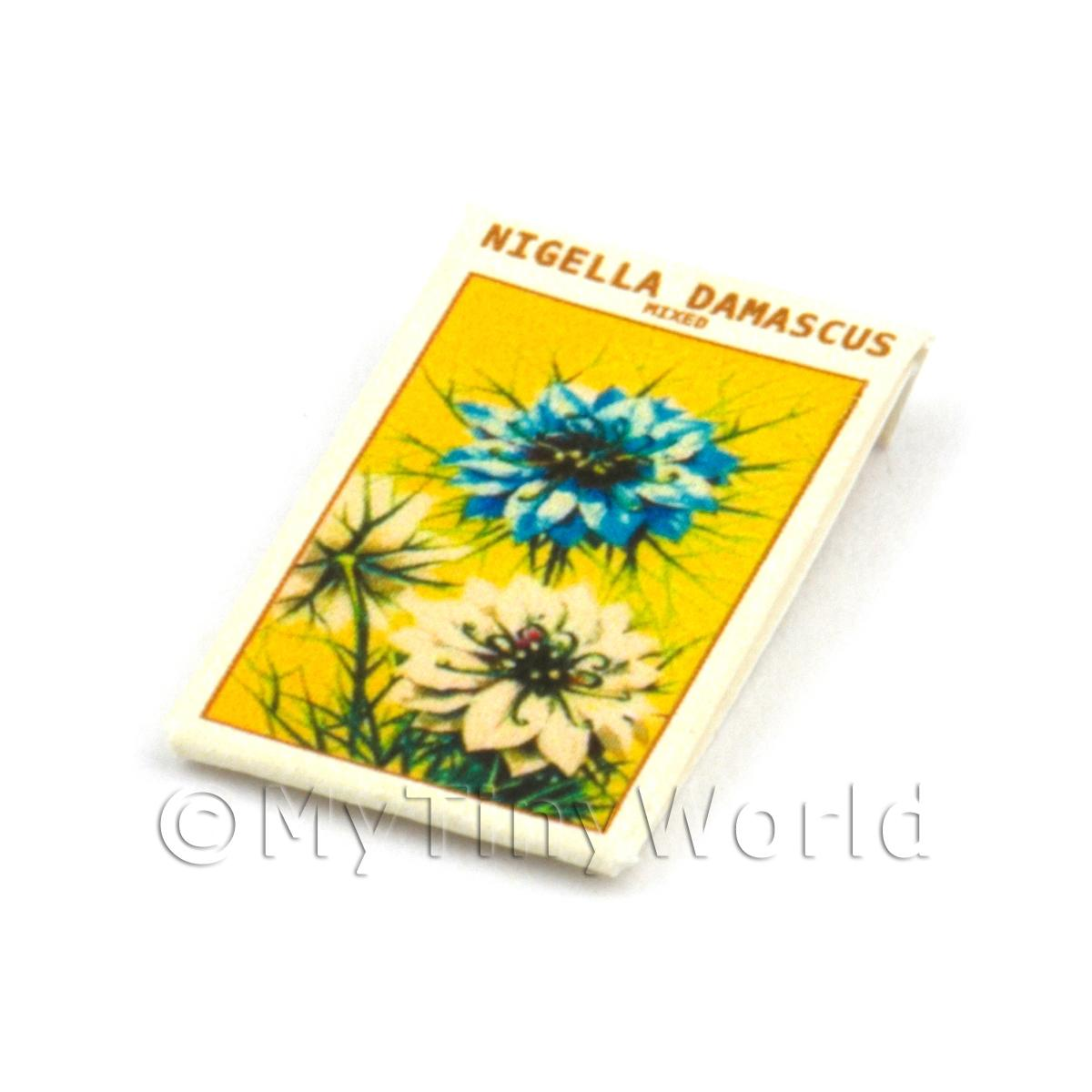 Dolls House Flower Seed Packet - Nigella Damascus