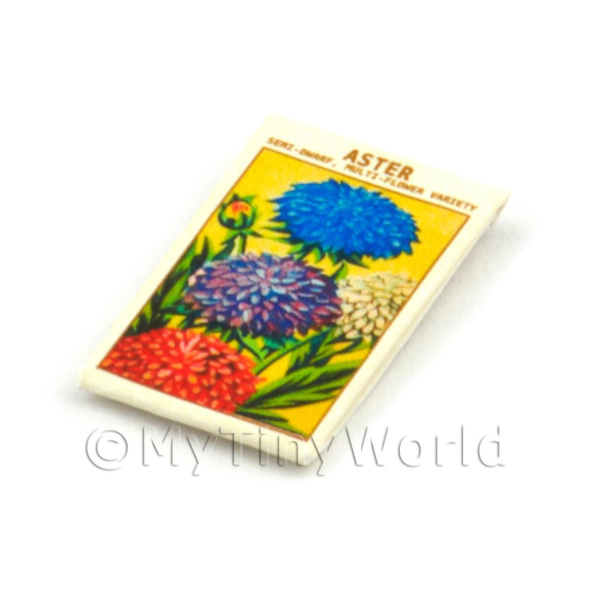 Dolls House Flower Seed Packet - Semi-Dwarf Aster