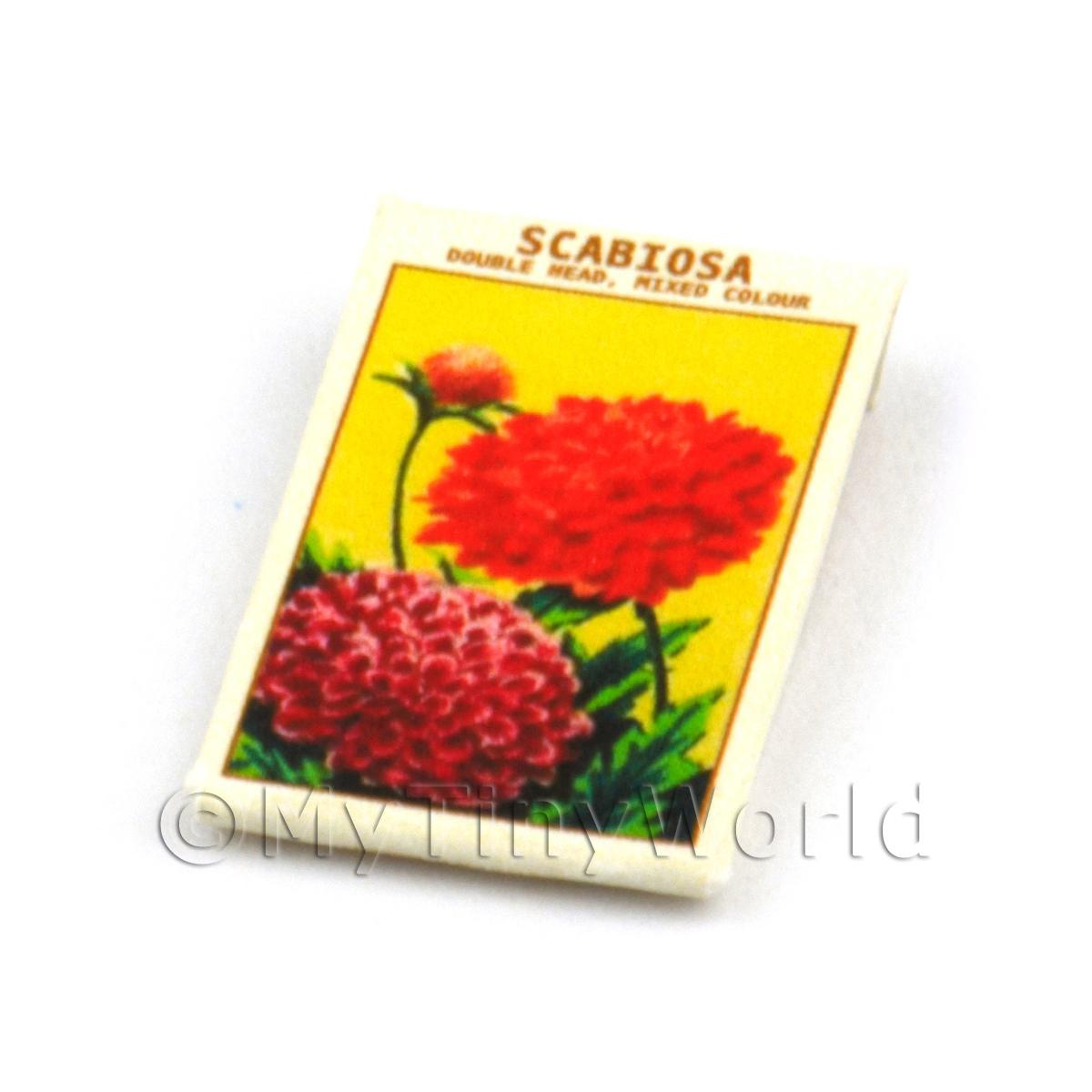 Dolls House Flower Seed Packet - Scabiosa