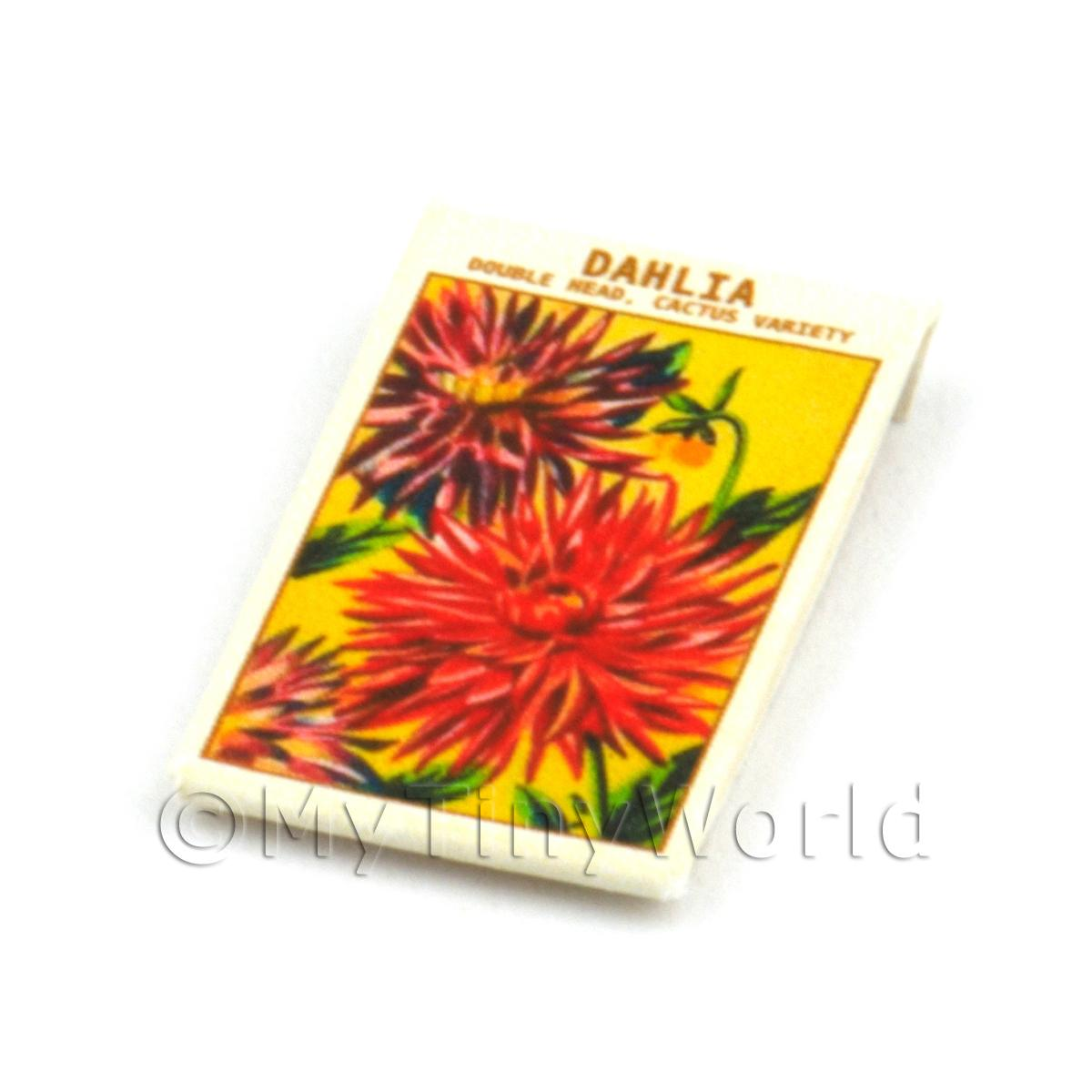 Dolls House Flower Seed Packet - Double Dahlia