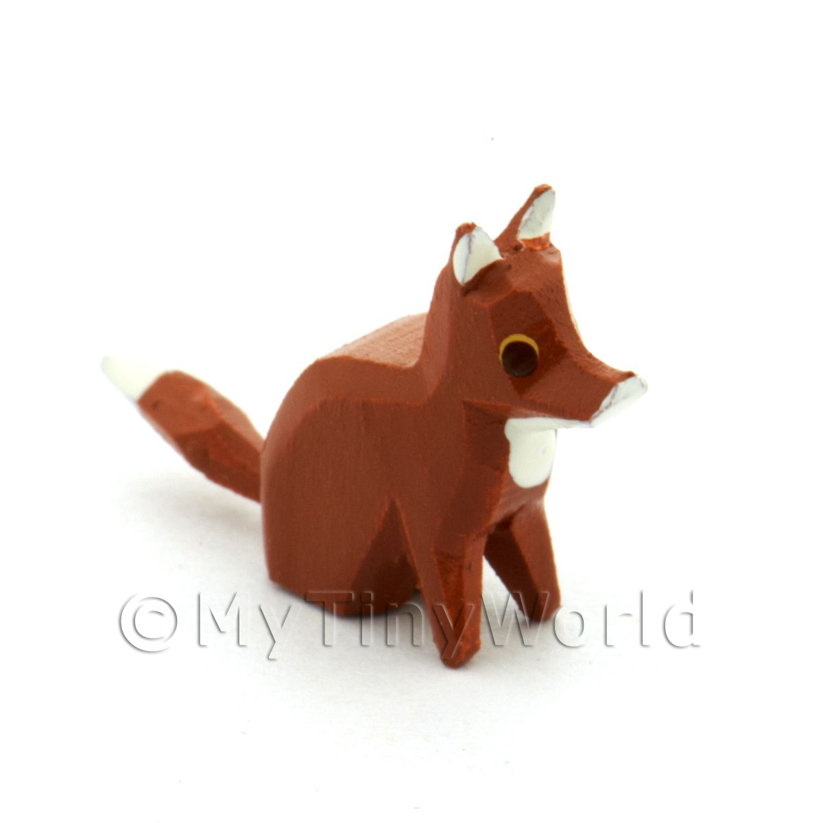 German Dolls House Miniature Small Sitting Fox