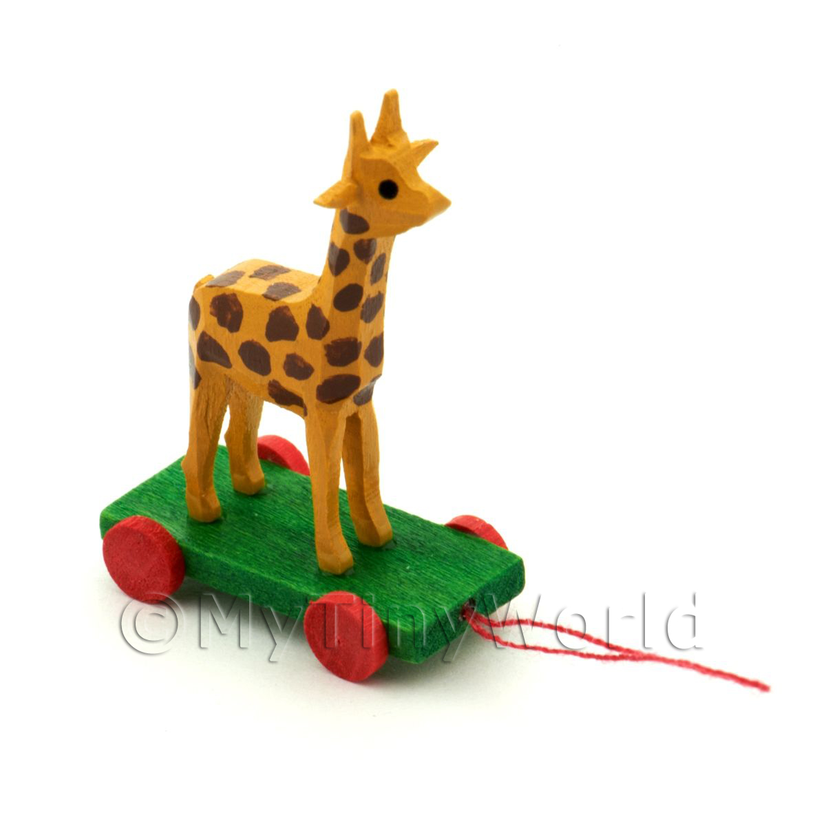 Dolls House Miniature Large German Pull-Along Giraffe