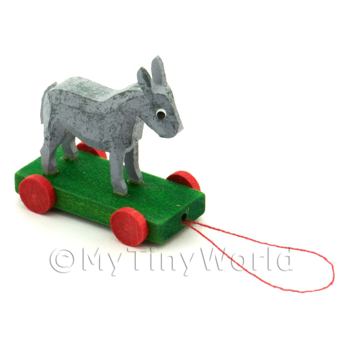 Dolls House Miniature Large German Pull-Along Donkey