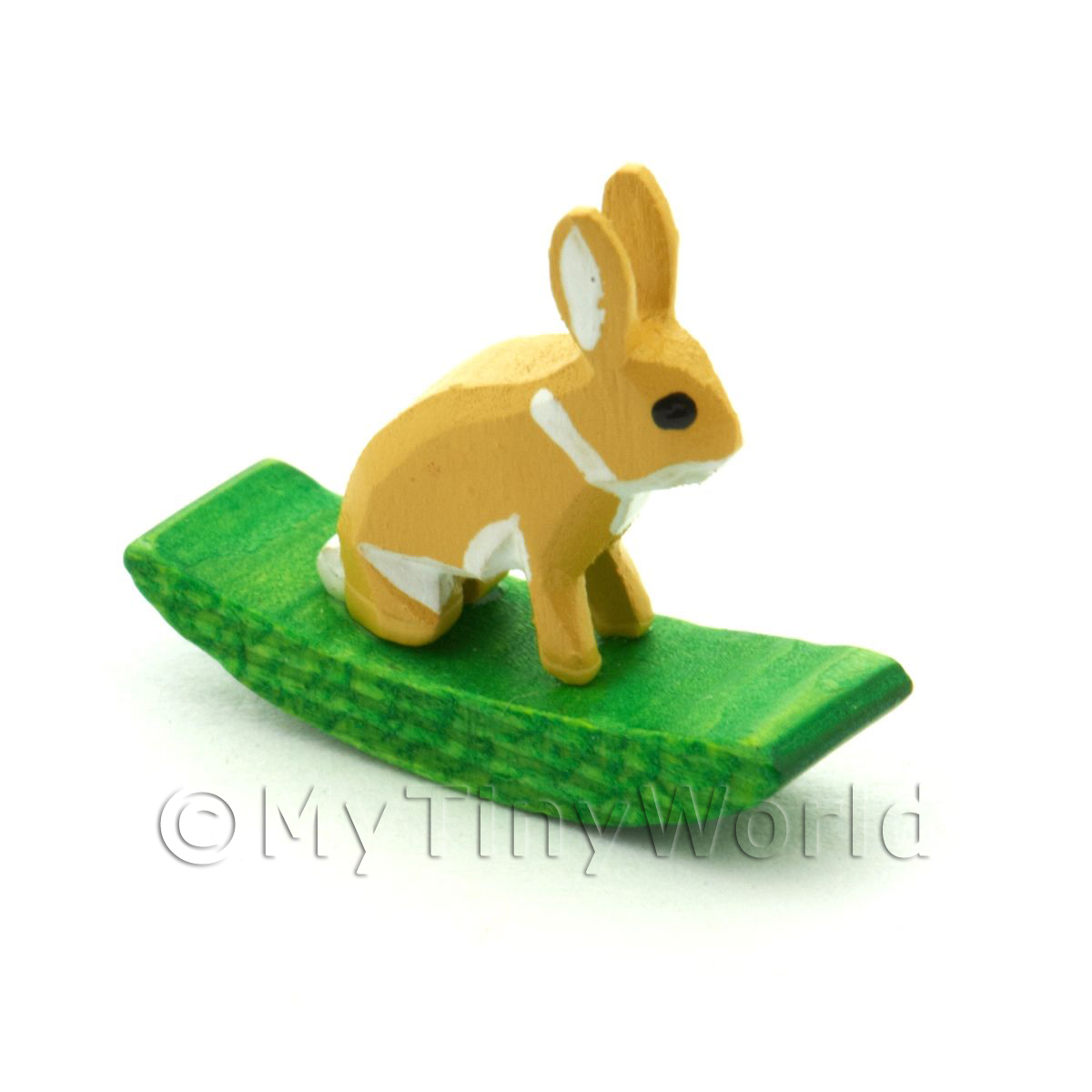 German Crafted Dolls House 20mm Rocking Brown Rabbit