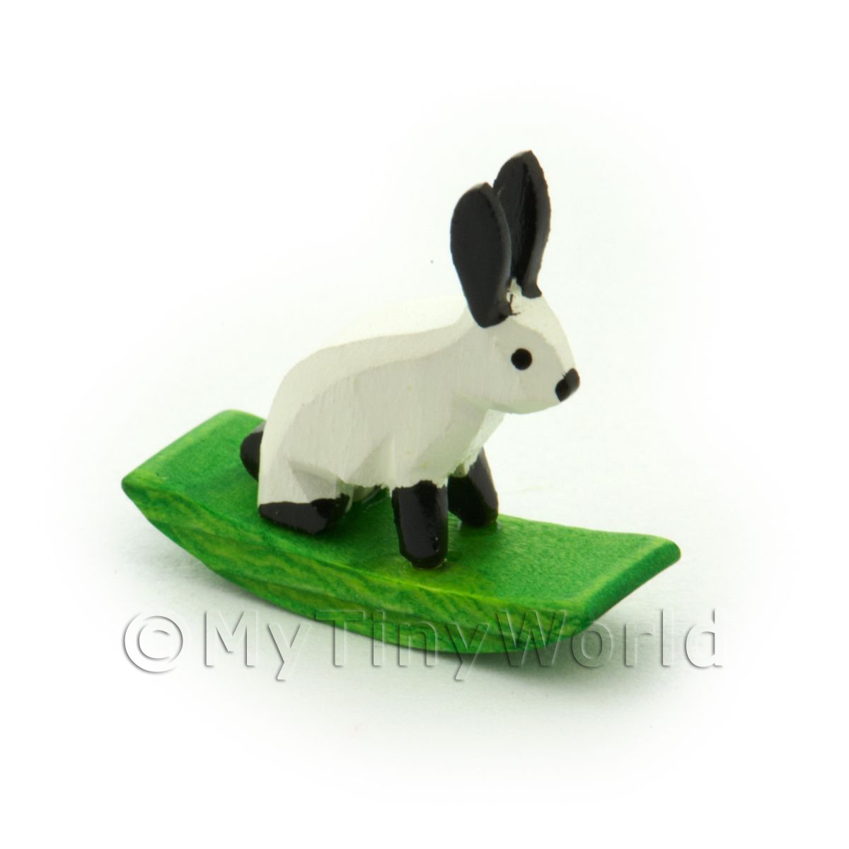German Crafted Dolls House 20mm Rocking White Rabbit