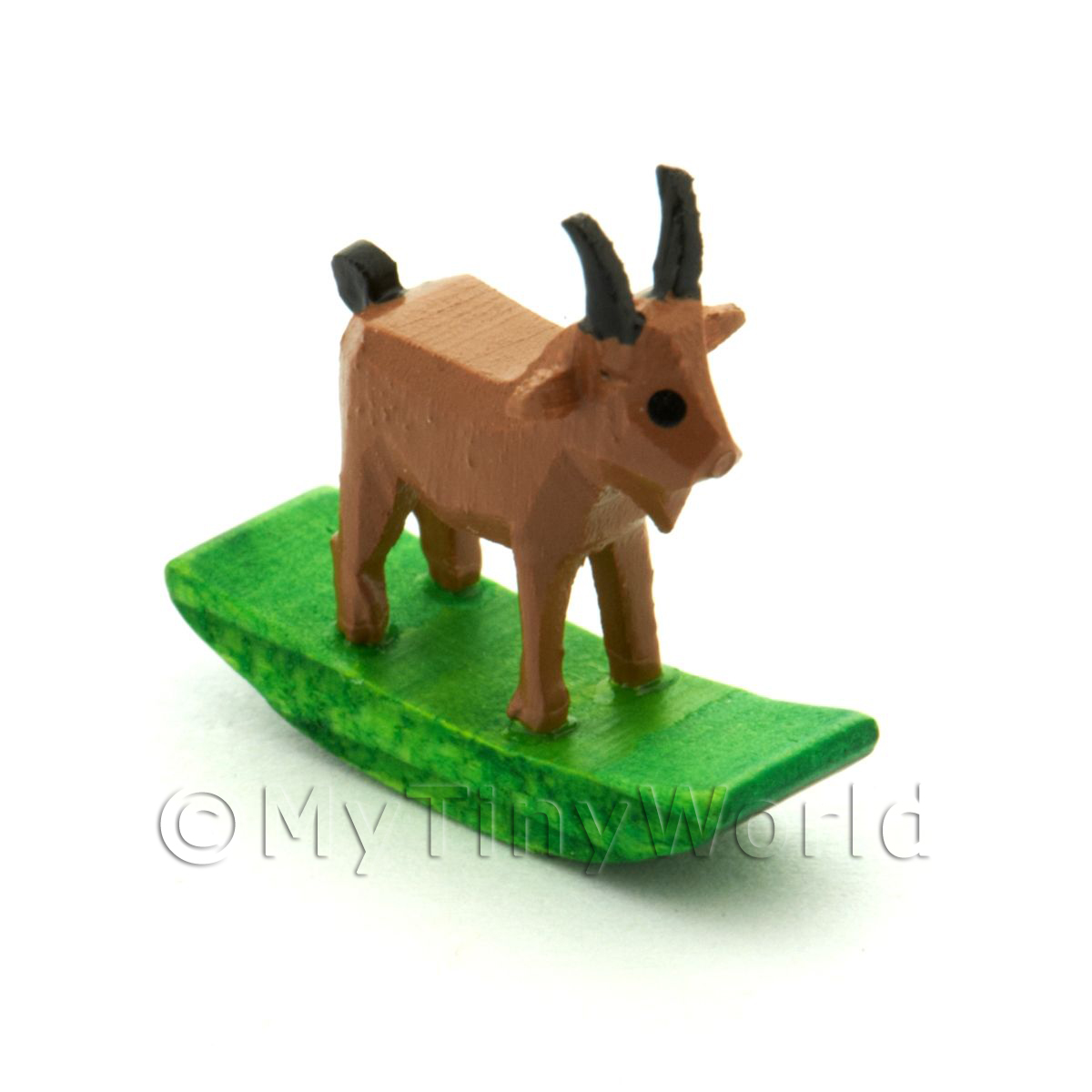 German Crafted Dolls House 20mm Rocking Brown Goat
