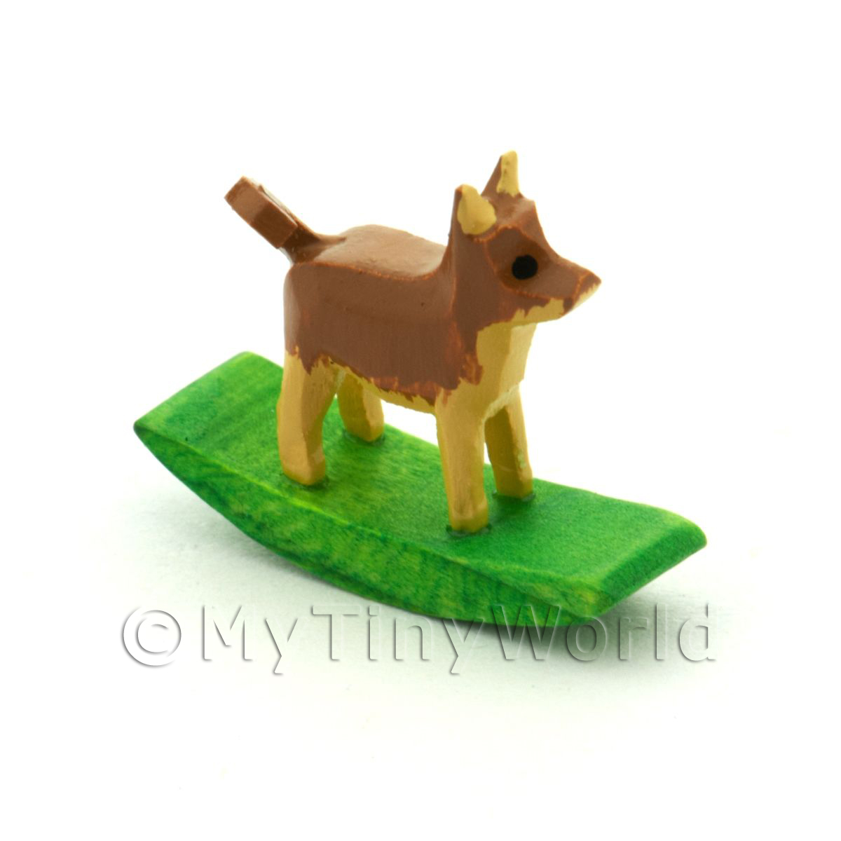 German Crafted Dolls House Miniature 20mm Rocking Dog