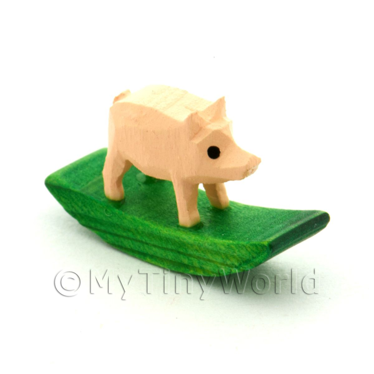 German Crafted Dolls House Miniature 20mm Rocking Pig