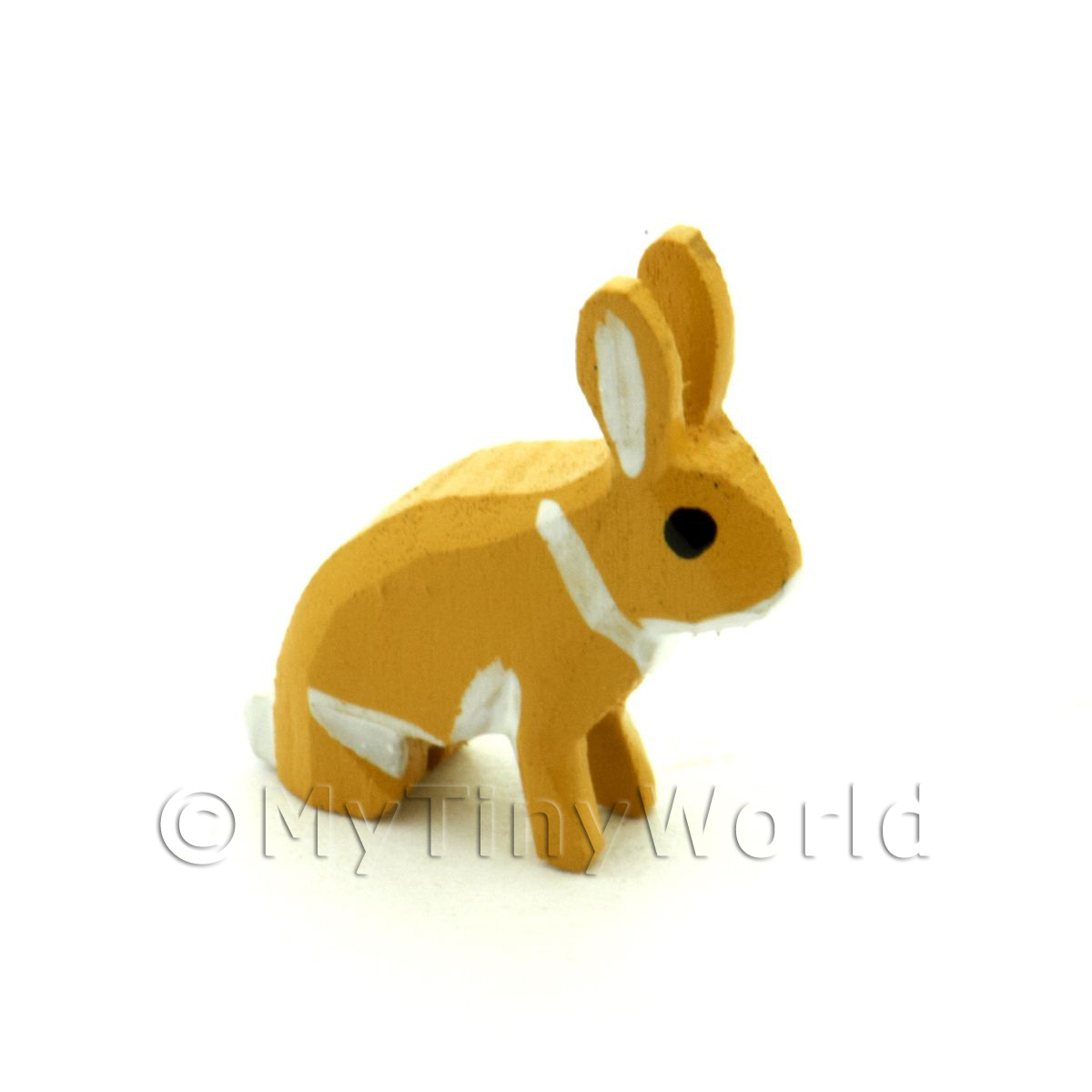 German Dolls House Miniature Small Brown Rabbit