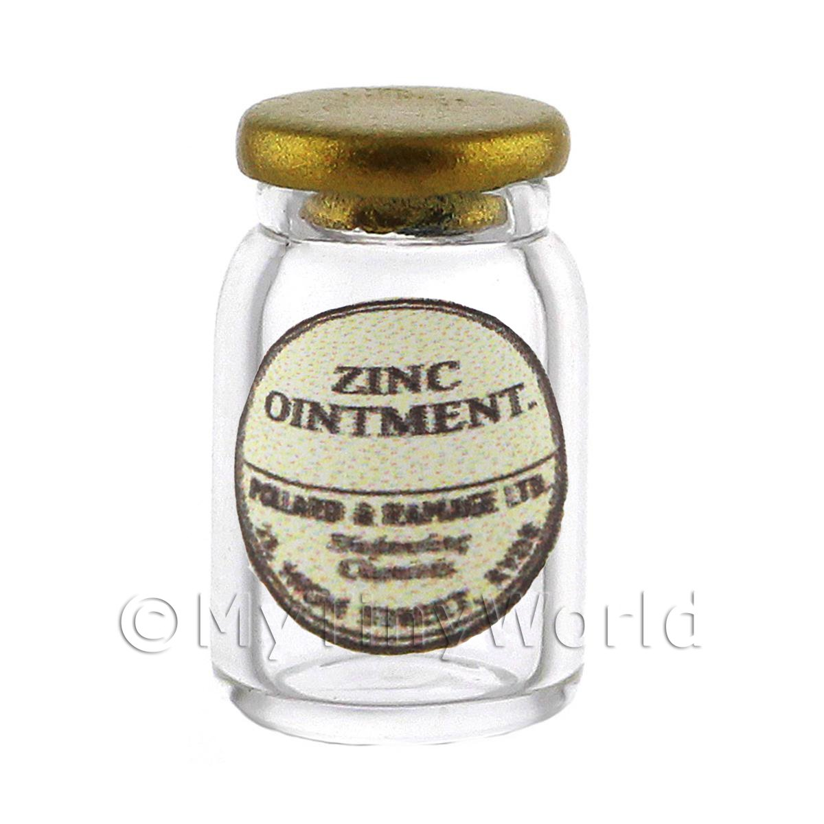 Miniature Zinc Ointment Glass Apothecary Ointment Jar