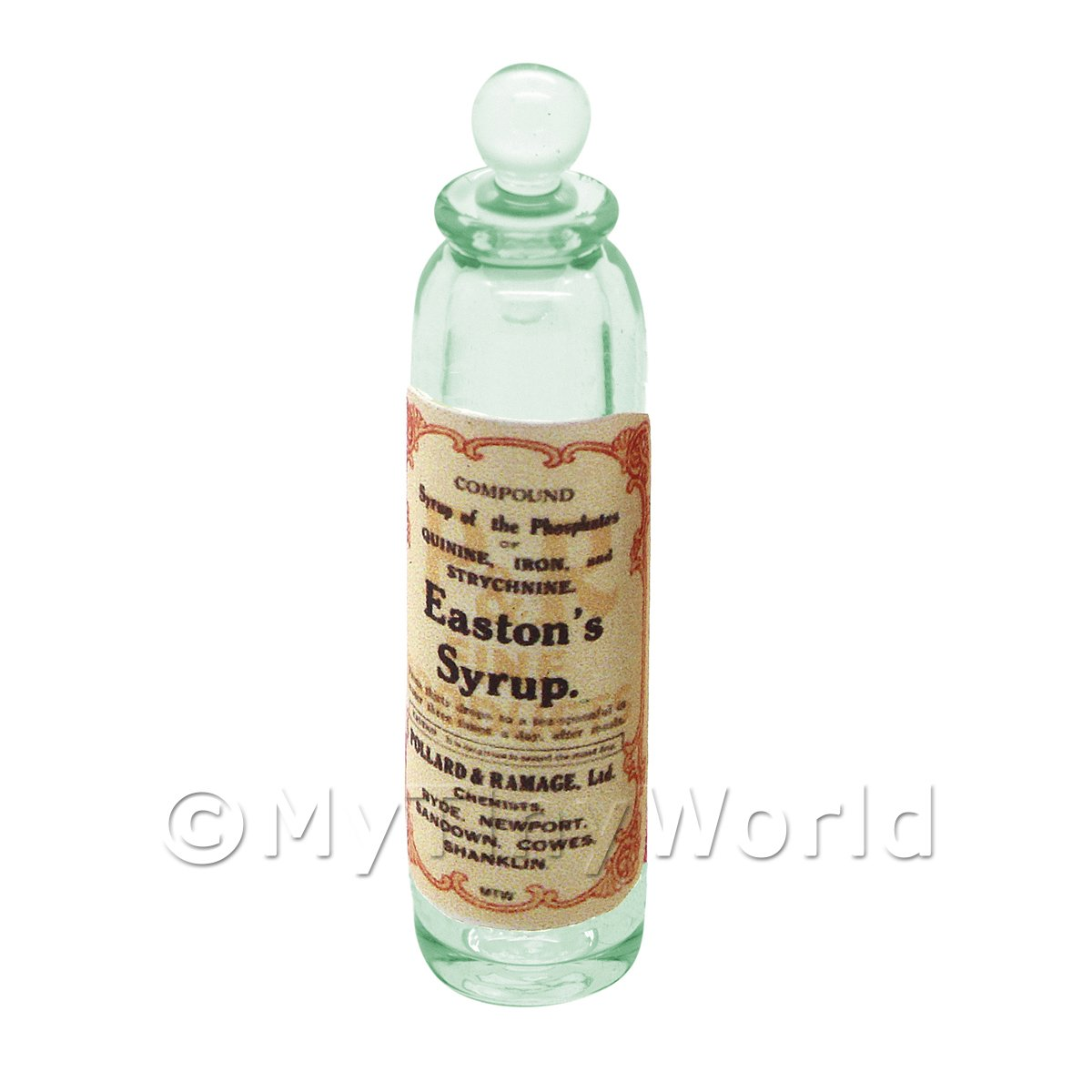 Miniature Phosphates of Quinine Green Glass Apothecary Bottle