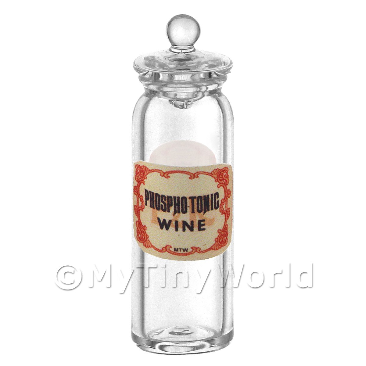 Miniature Phosphotonic Wine Glass Apothecary Jar