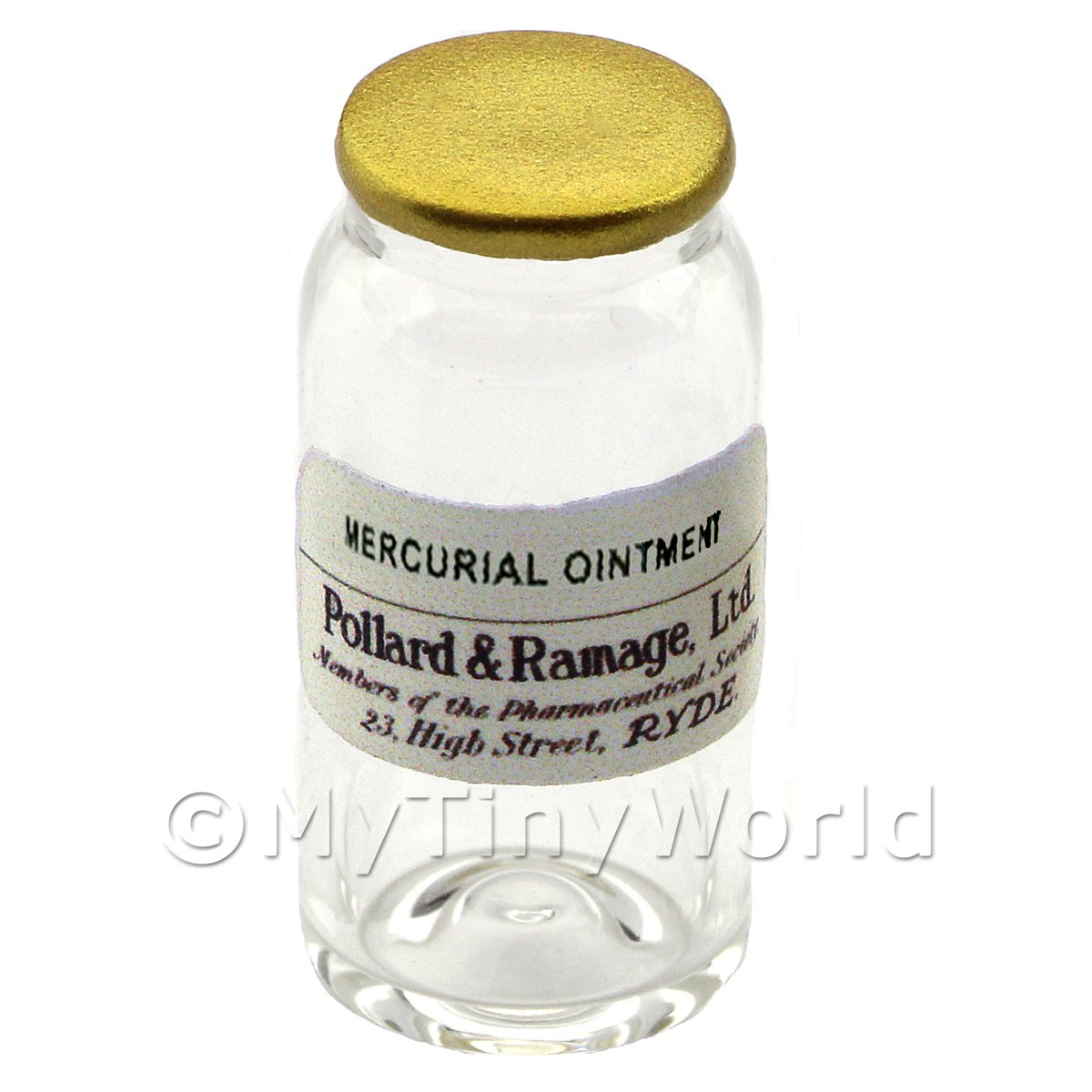 Miniature Mercurial Ointment Glass Apothecary Bulk Jar