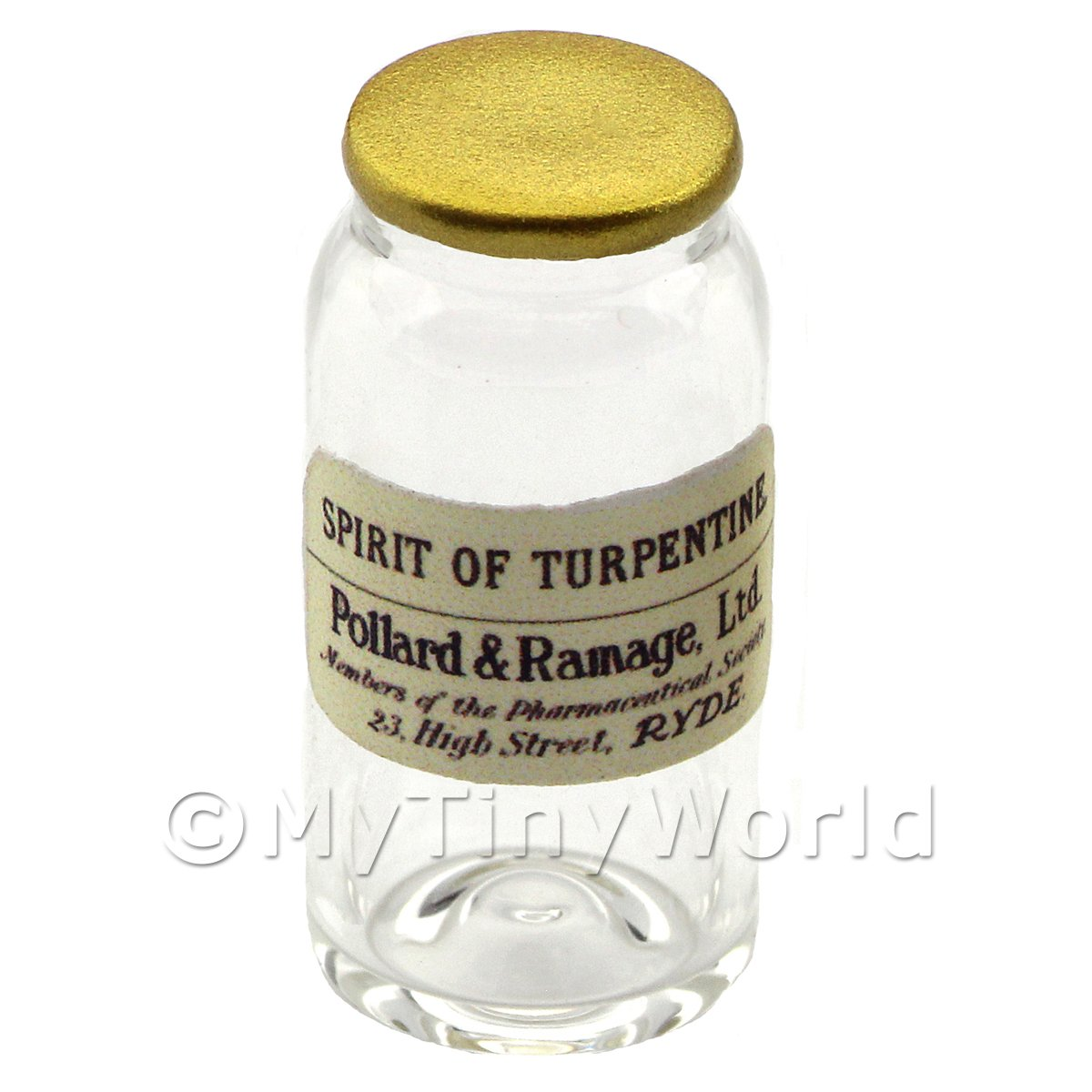 Miniature Spirit of Turpentine Glass Apothecary Bulk Jar