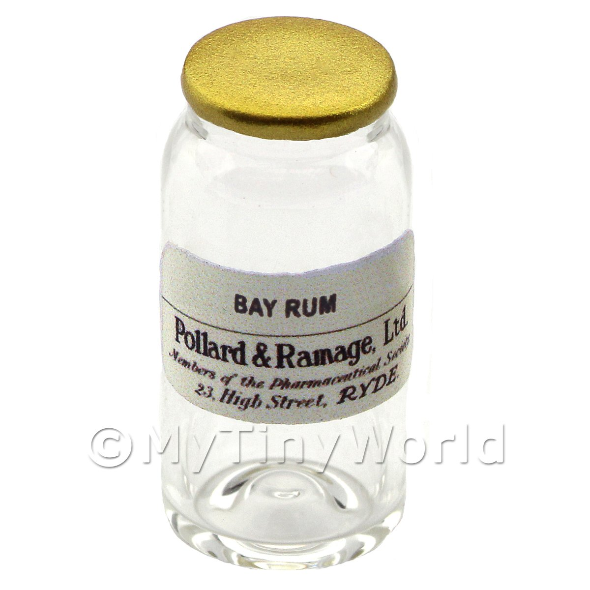 Miniature Bay Rum Glass Apothecary Bulk Jar