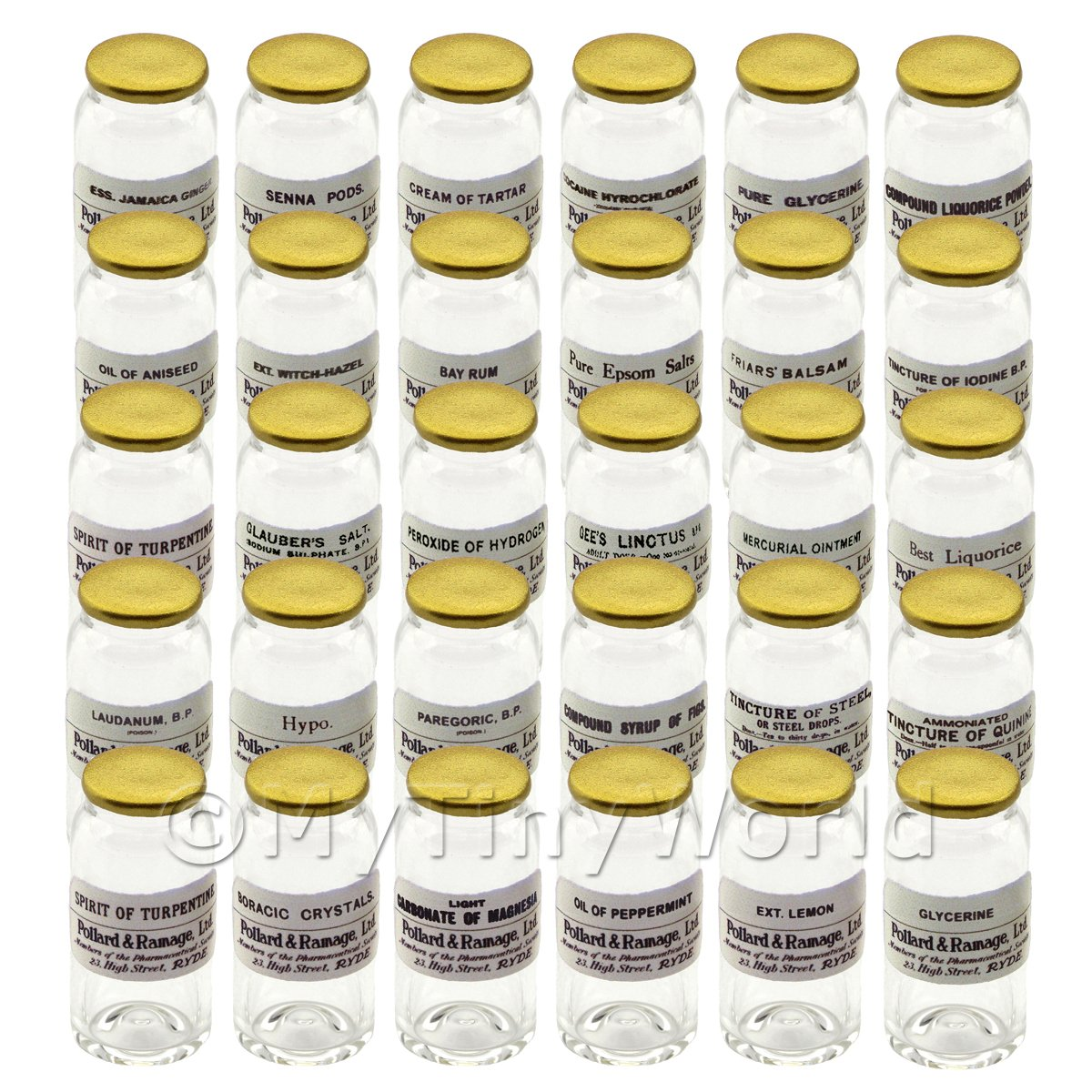 30 Miniature Glass Apothecary Bulk Storage Jars Set 7/7