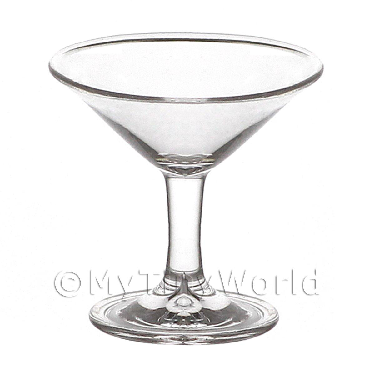 Dolls House Miniature Handmade Classic Clear Cocktail Glass