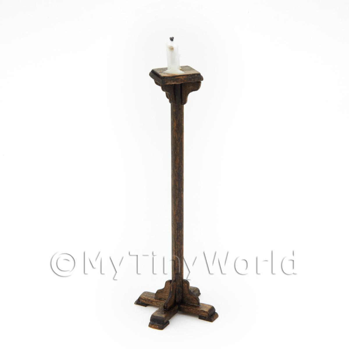 Dolls House Miniature Handmade Standing Candlestick Holder